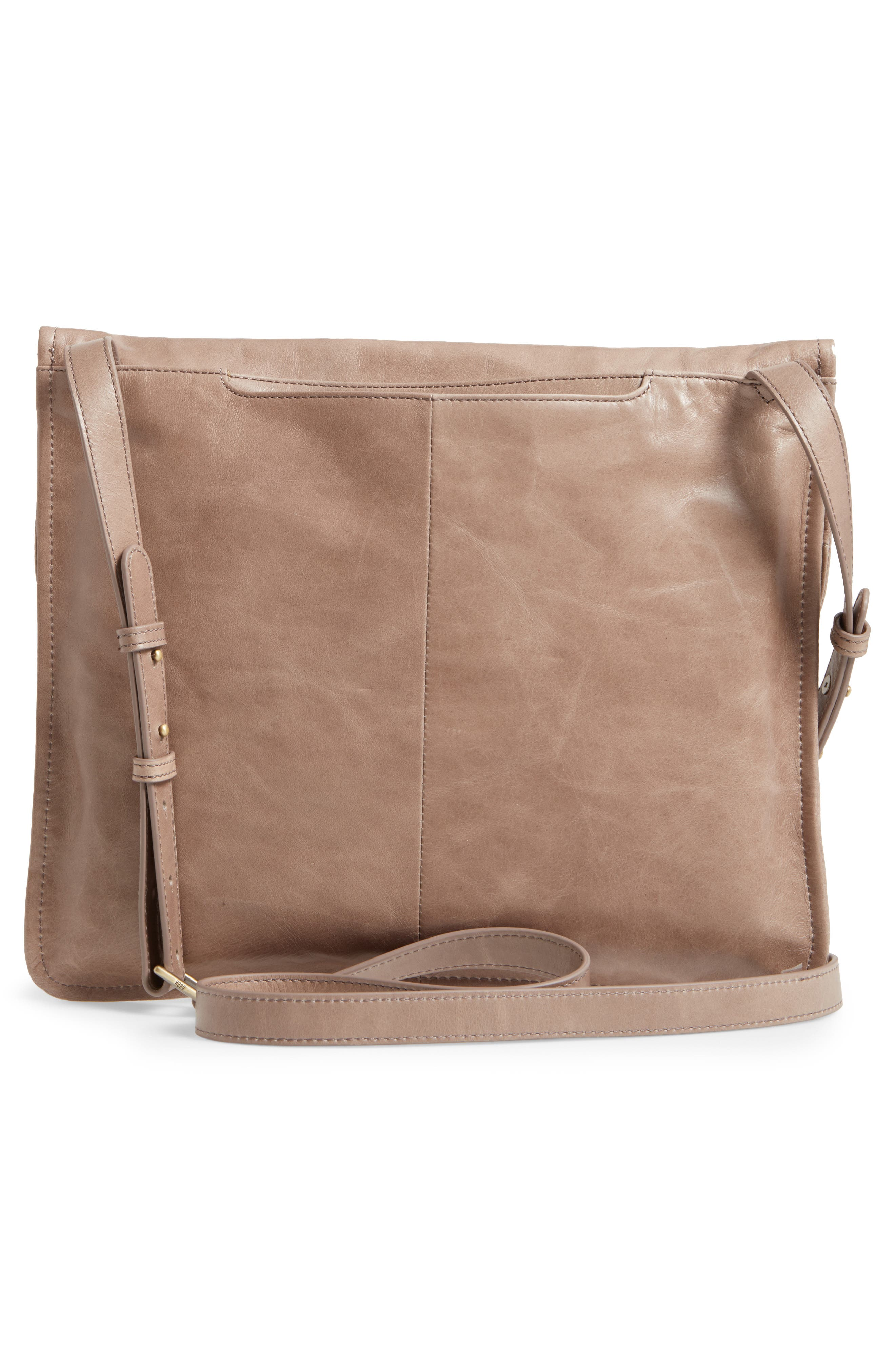 Vista Calfskin Leather Messenger Bag,                             Alternate thumbnail 10, color,