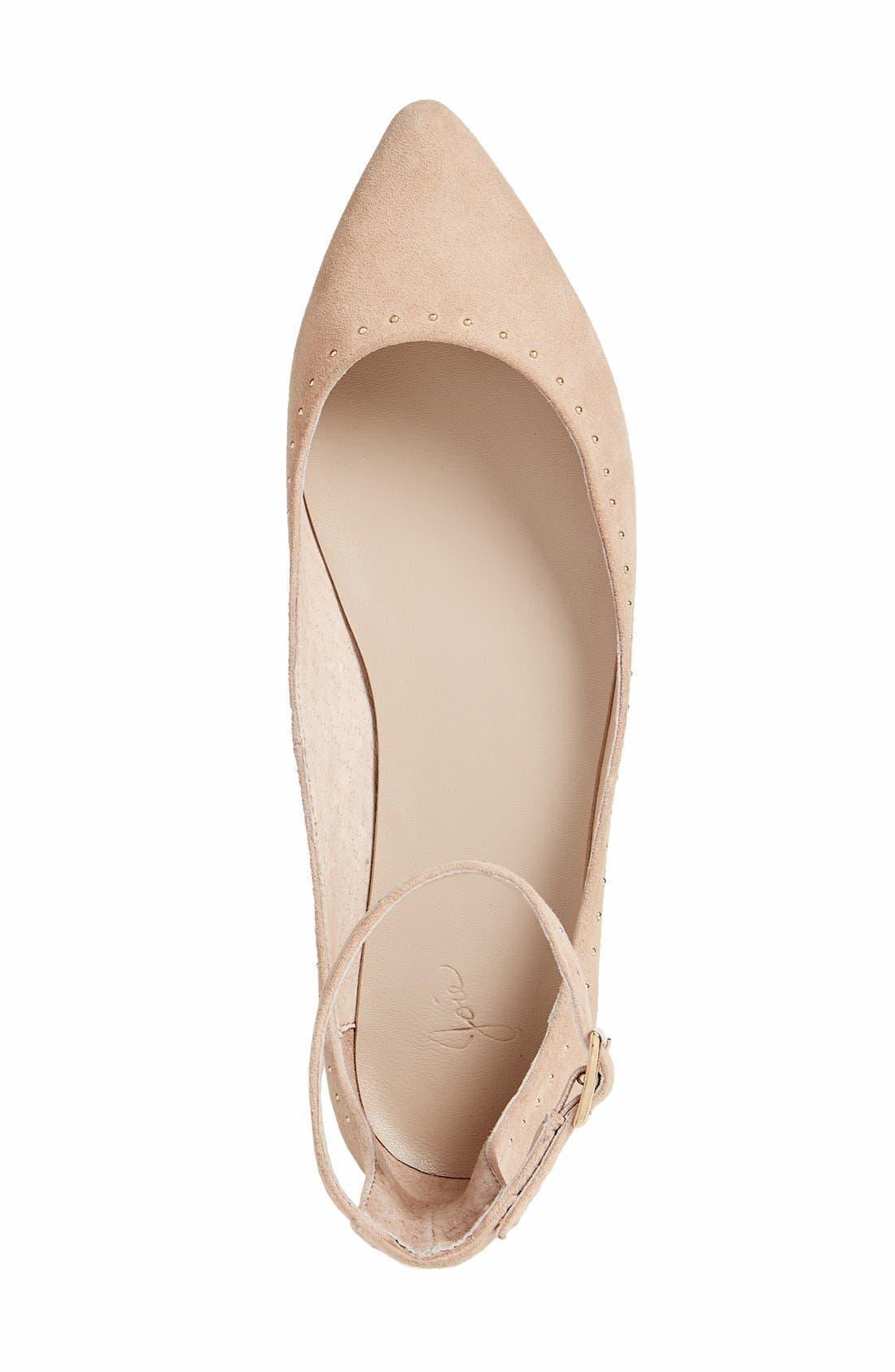 Afra Ankle Strap Ballet Flat,                             Alternate thumbnail 4, color,                             250