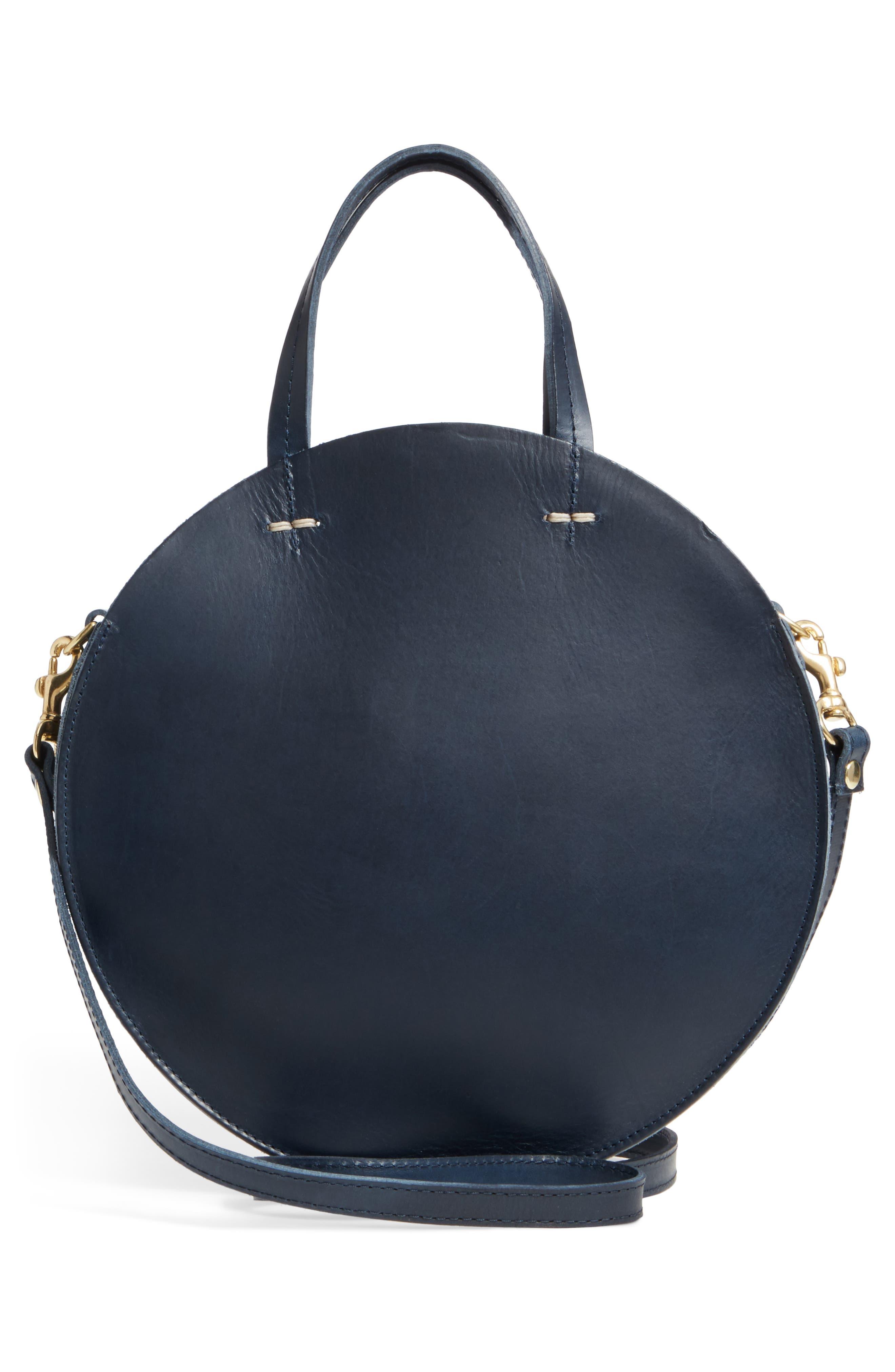 Petite Alistair Leather Circular Crossbody Bag,                             Alternate thumbnail 3, color,                             410