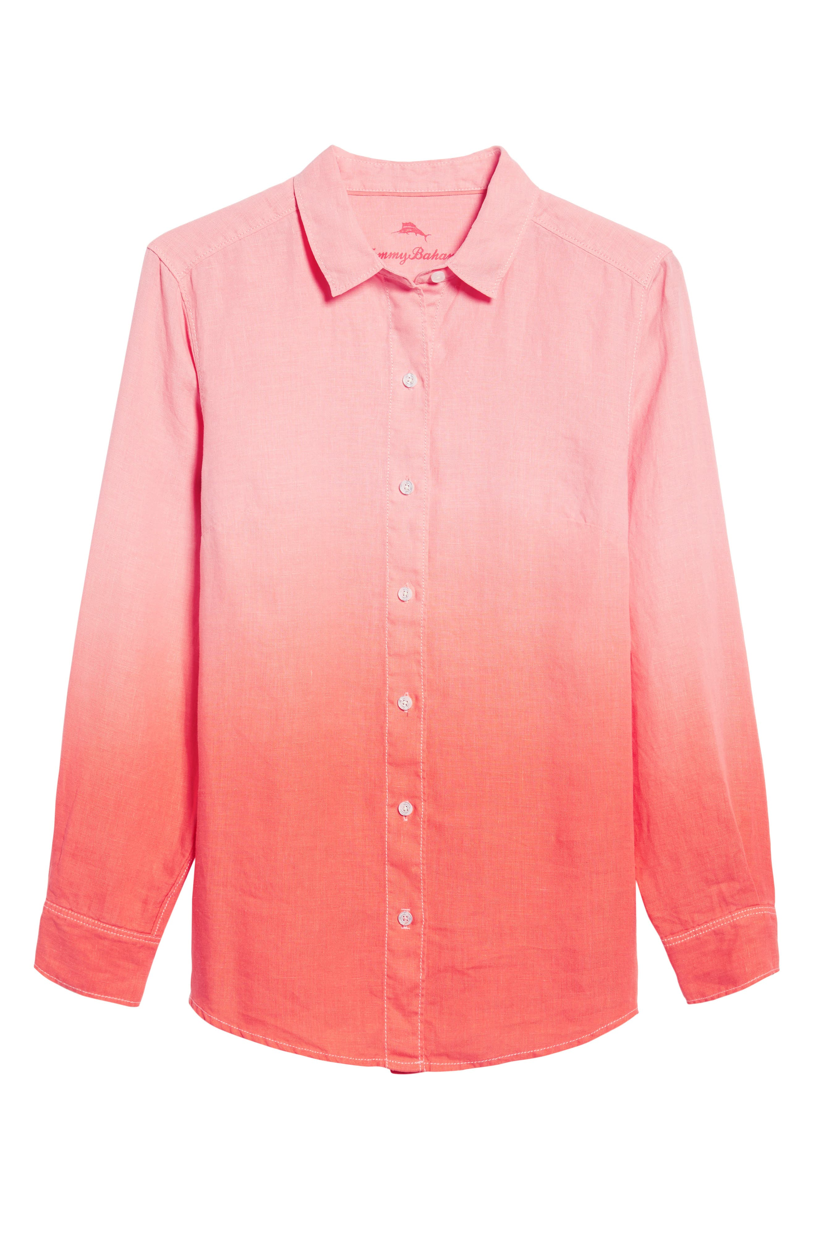 Two Palms Dip Dye Top,                             Alternate thumbnail 6, color,                             CABANA PINK/ BURNT CORAL
