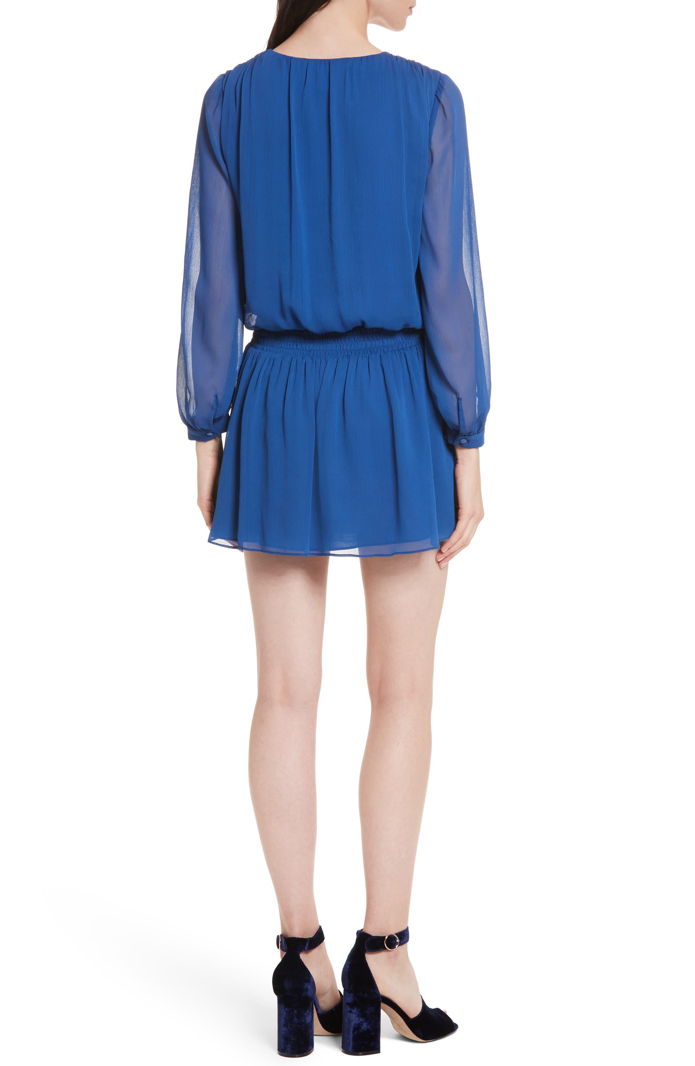 Adaline Smocked Waist Minidress,                             Alternate thumbnail 2, color,                             400