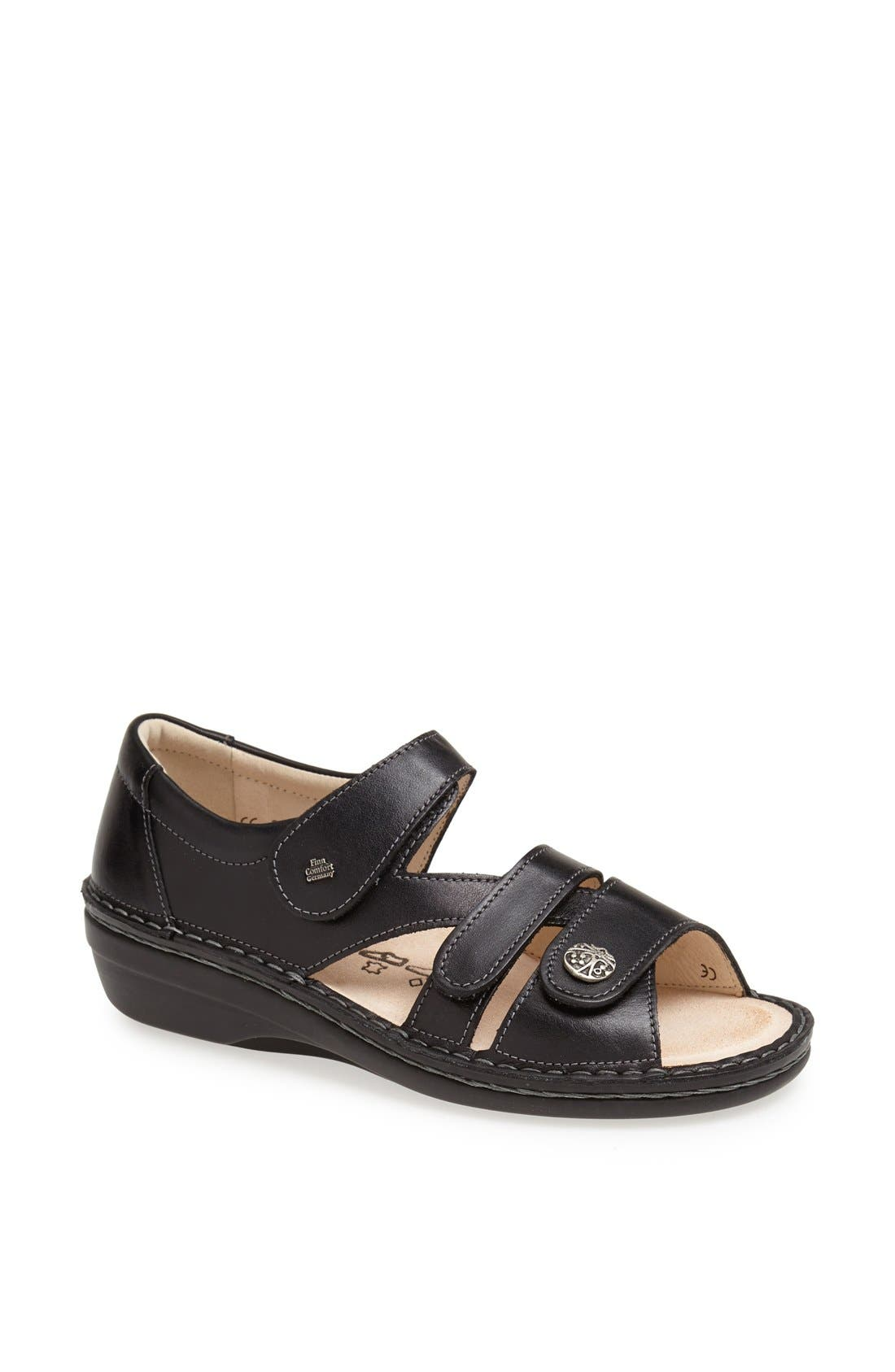 'Sintra' Sandal,                             Main thumbnail 1, color,                             BLACK