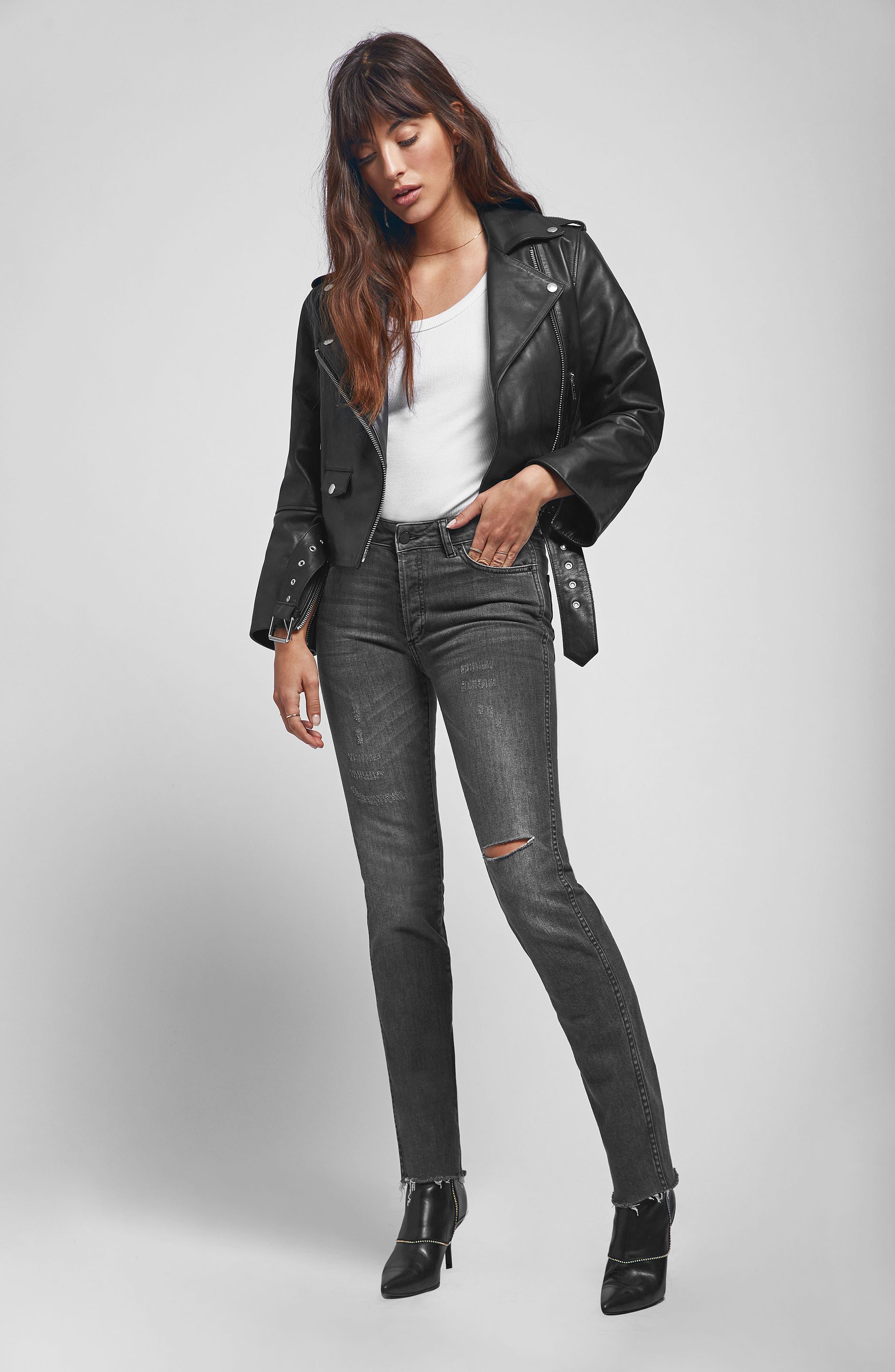 Kara Skinny Jeans,                             Alternate thumbnail 7, color,                             CHARCOAL