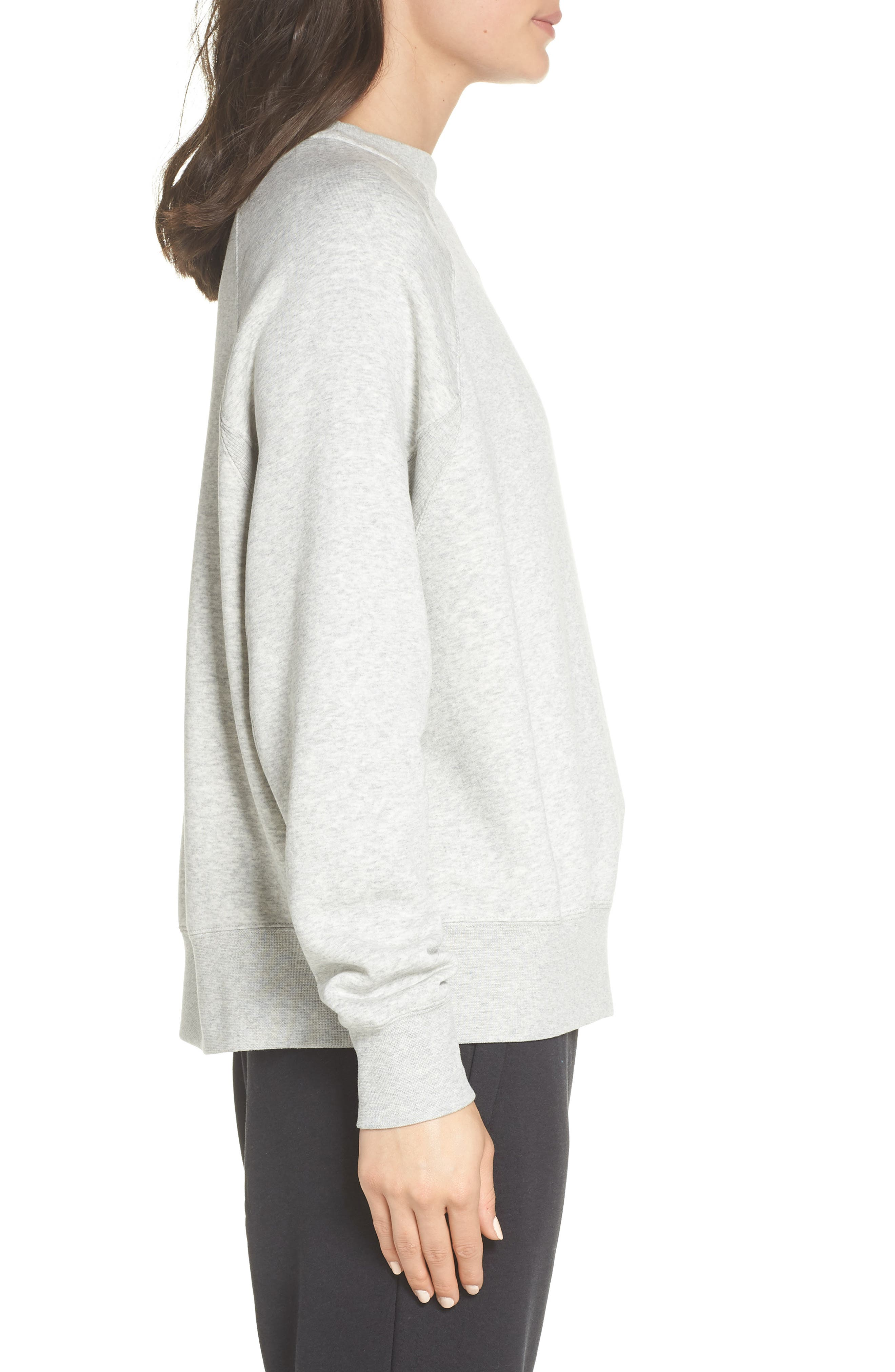 Sportswear Rally Sweatshirt,                             Alternate thumbnail 3, color,                             GREY HEATHER/ WHITE