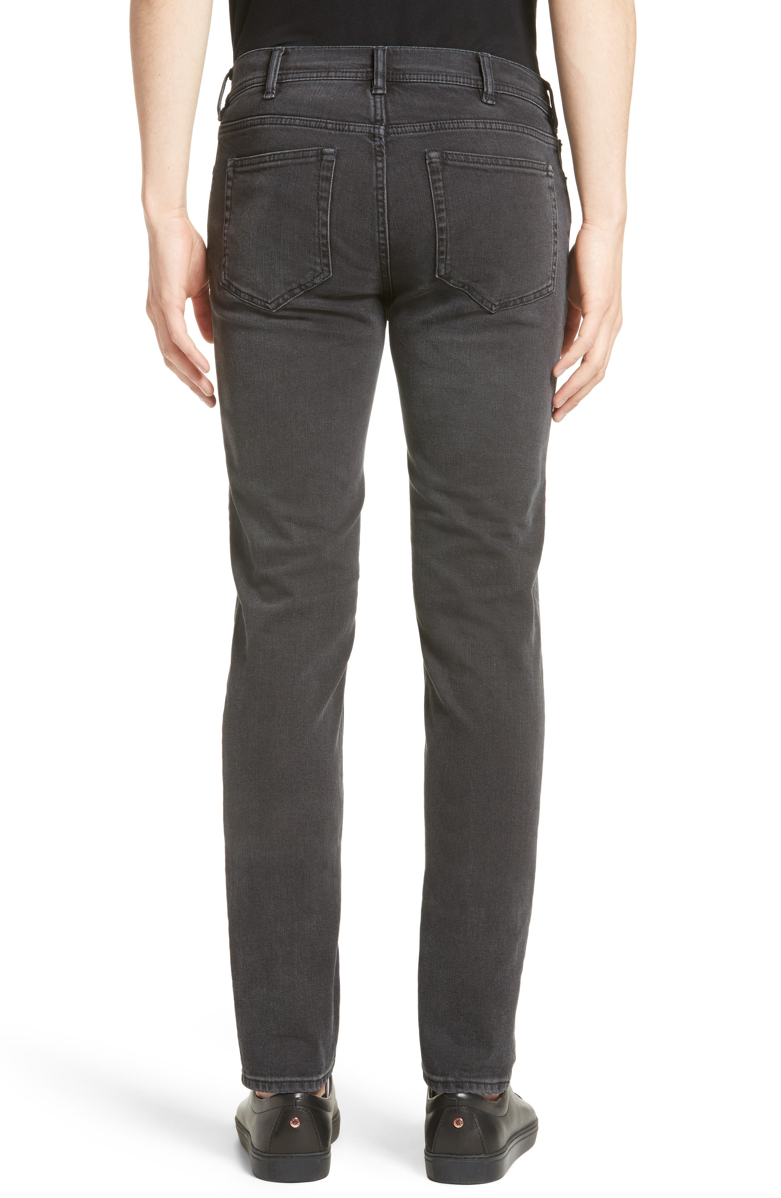 North Skinny Fit Jeans,                             Alternate thumbnail 2, color,                             USED BLACK