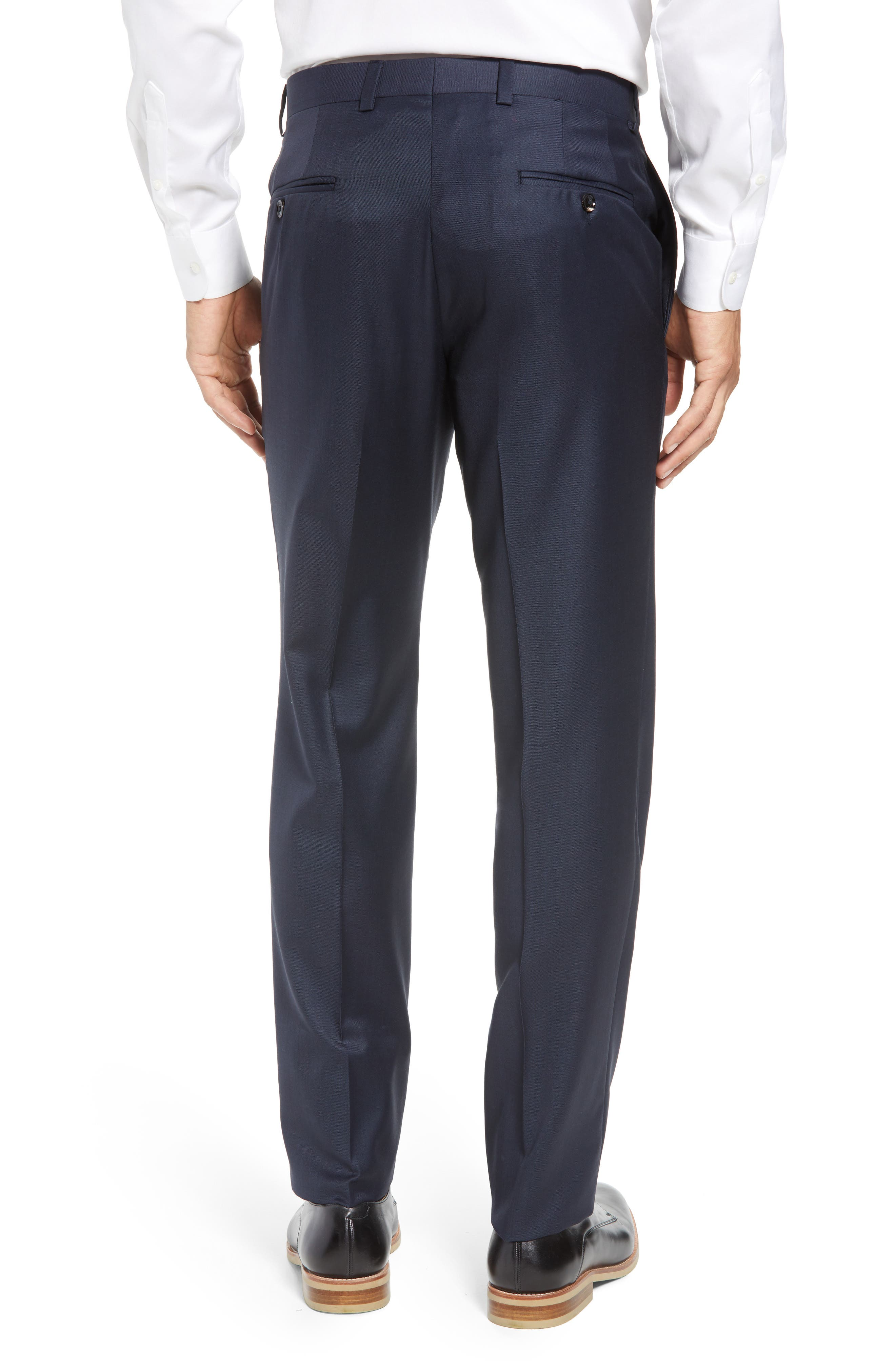 Jefferson Flat Front Wool Trousers,                             Alternate thumbnail 24, color,