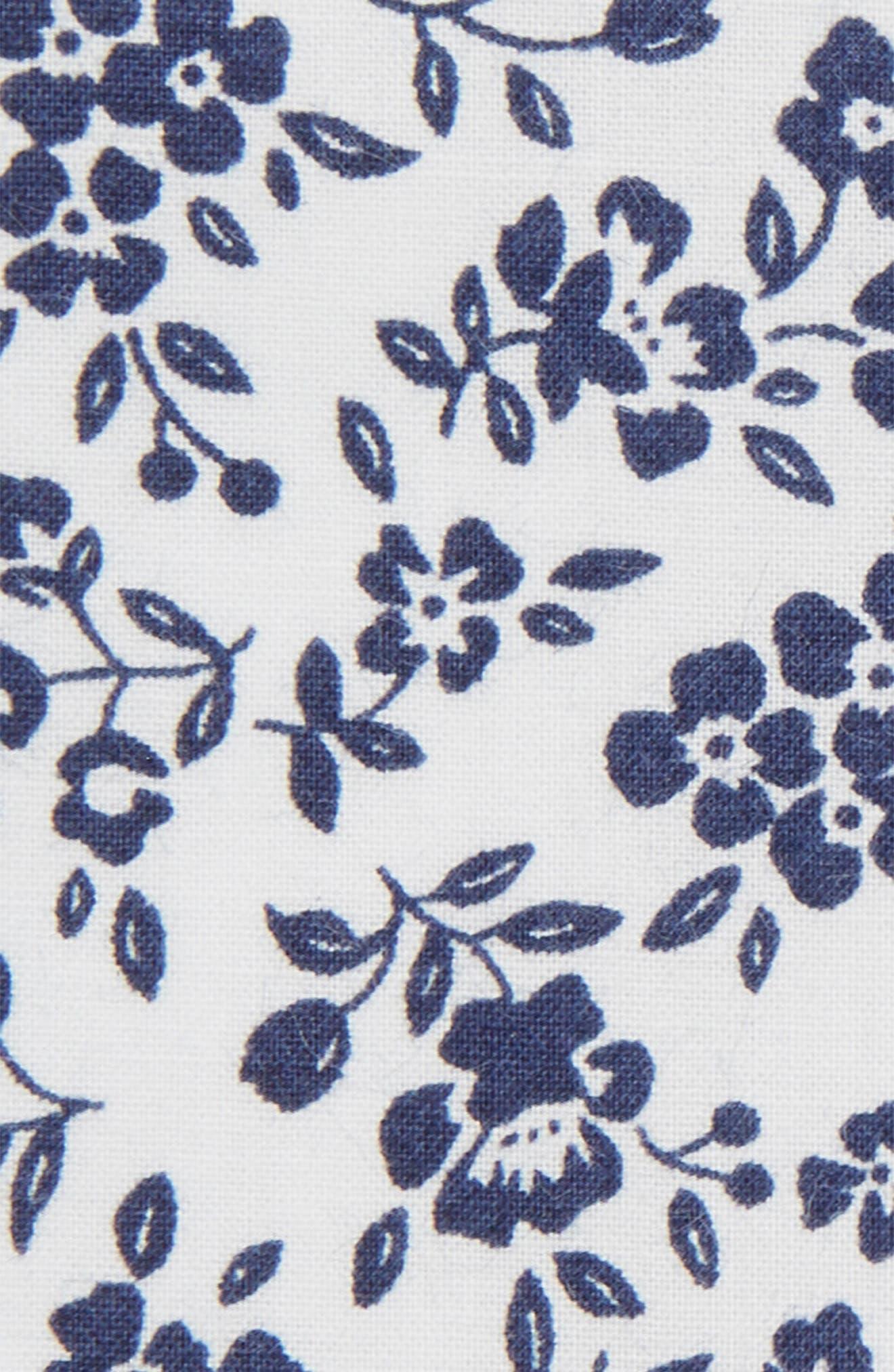 Floral Cotton Pocket Square,                             Alternate thumbnail 3, color,                             400
