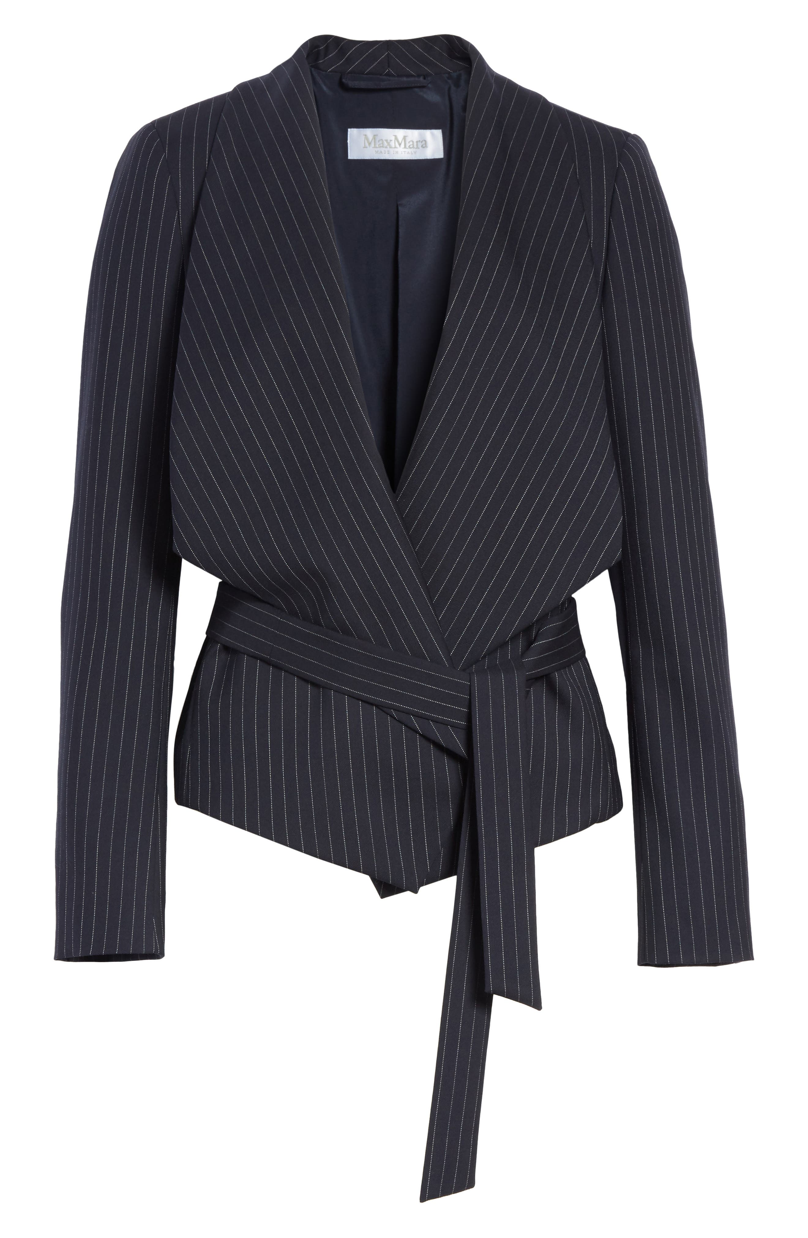 Giunto Stretch Wool Belted Blazer,                             Alternate thumbnail 5, color,