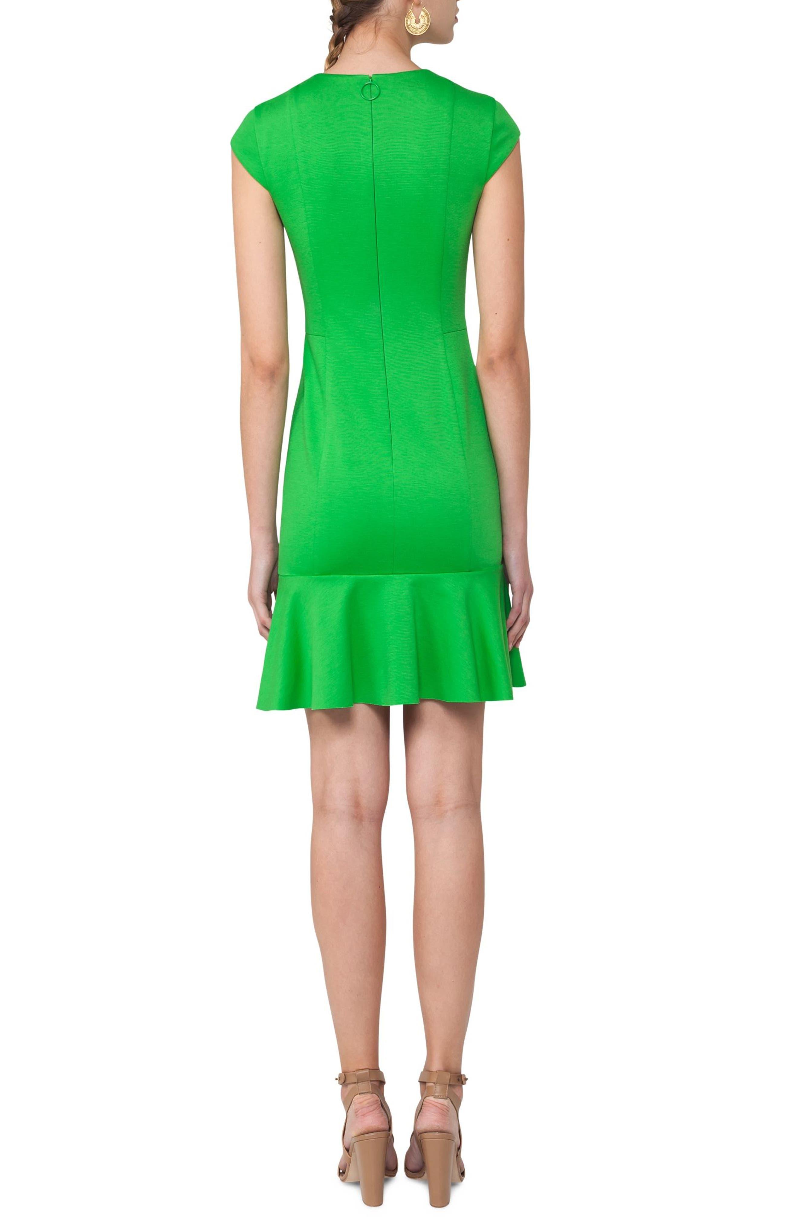 Flounce Hem Dress,                             Alternate thumbnail 2, color,                             300