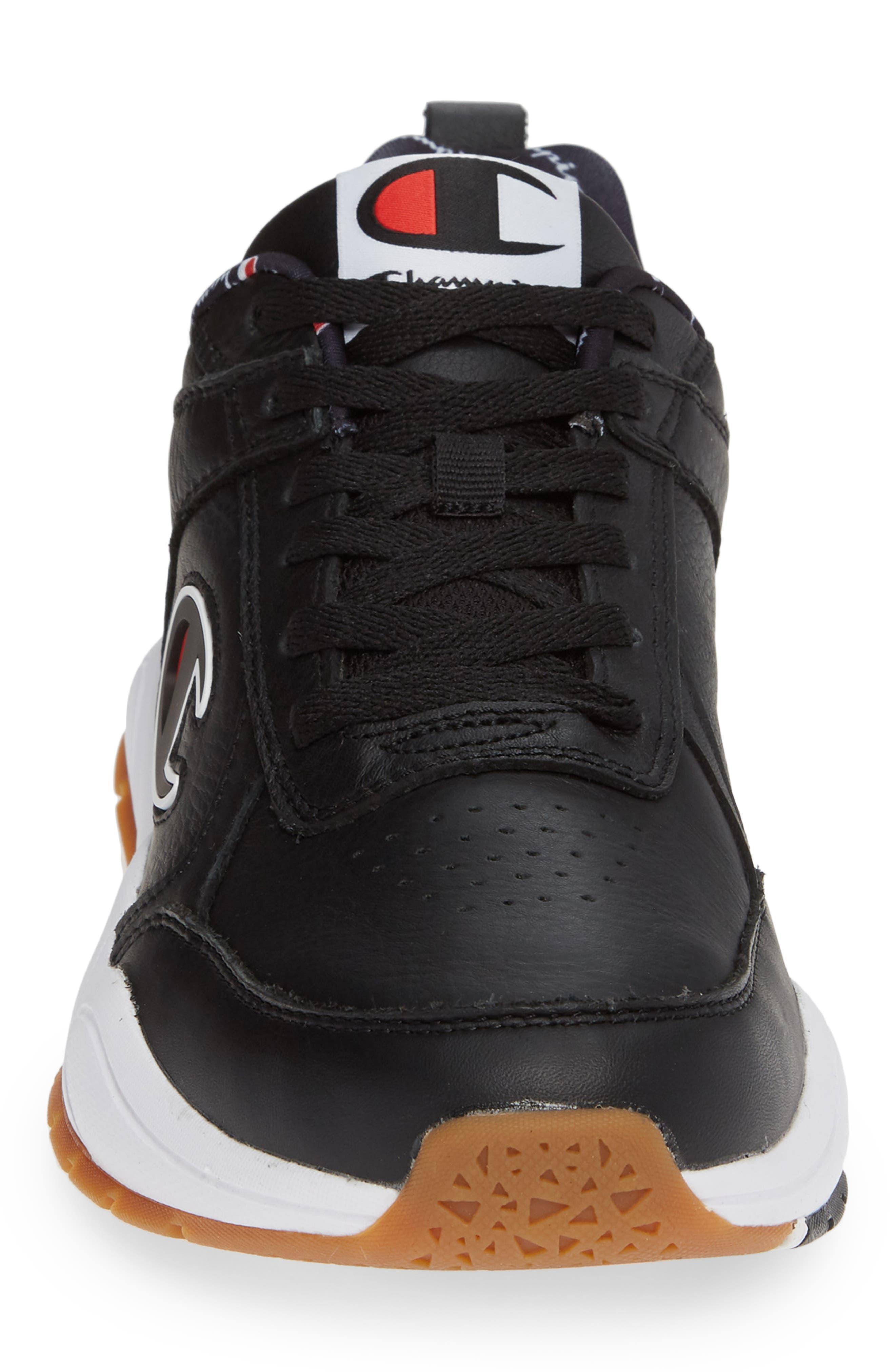 Bones Big-C Sneaker,                             Alternate thumbnail 4, color,                             BLACK LEATHER