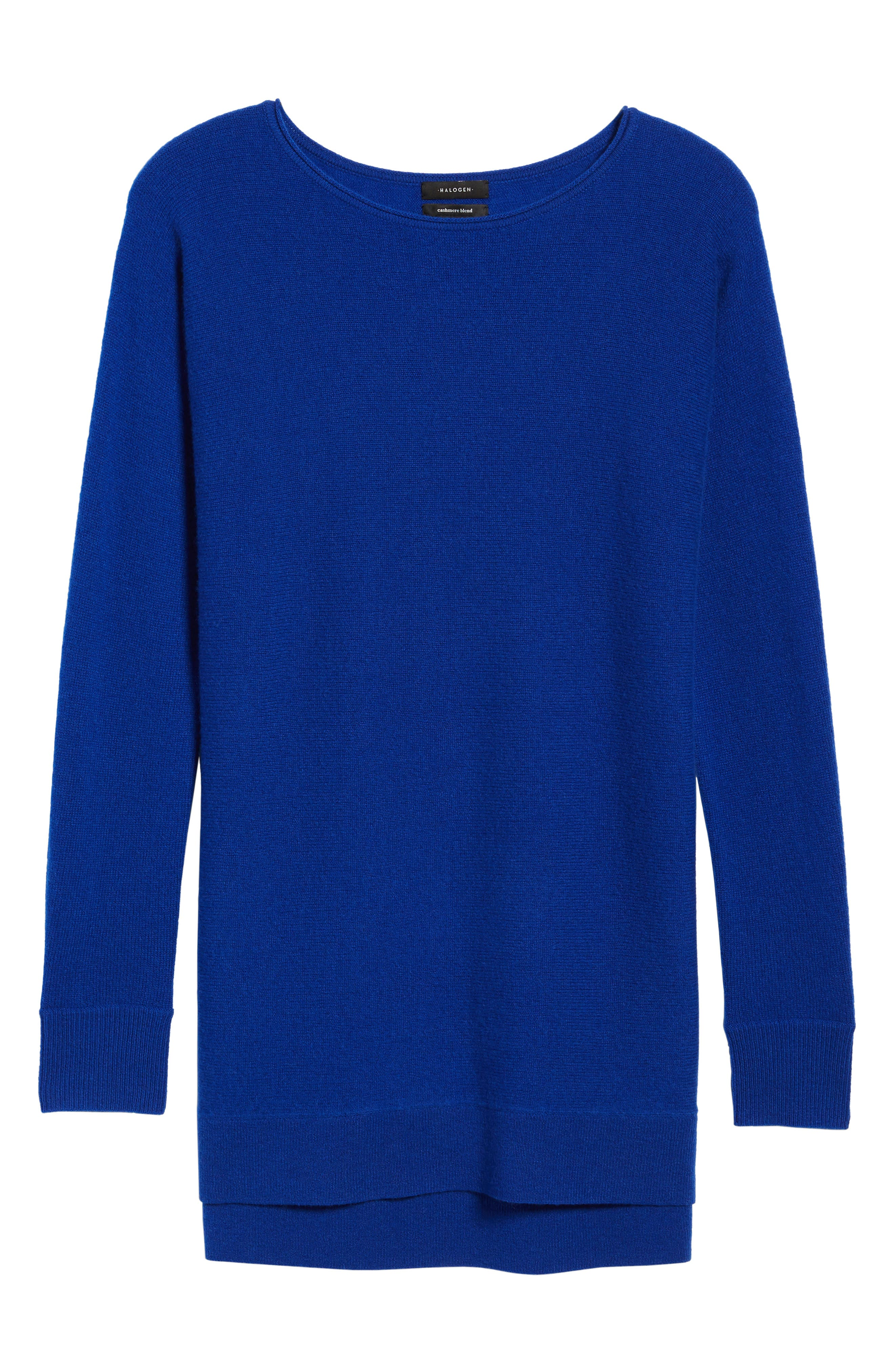High/Low Wool & Cashmere Tunic Sweater,                             Alternate thumbnail 96, color,