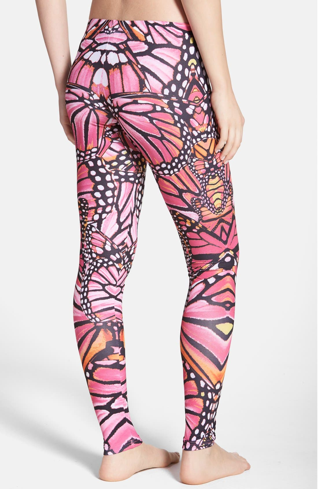 Butterfly Print Leggings,                             Alternate thumbnail 2, color,                             997