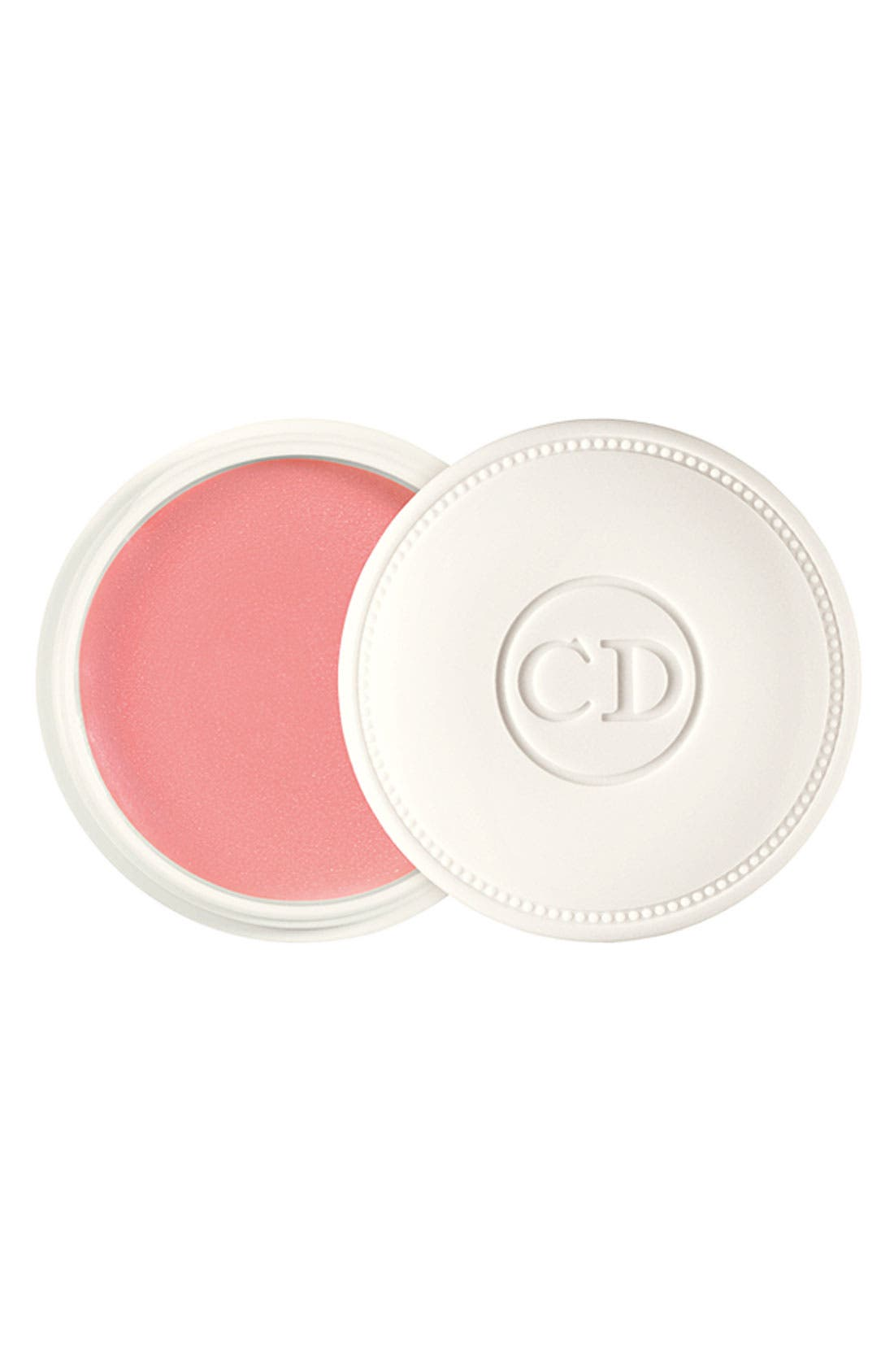DIOR,                             'Crème de Rose' Smoothing Plumping Lip Balm SPF 10,                             Main thumbnail 1, color,                             000