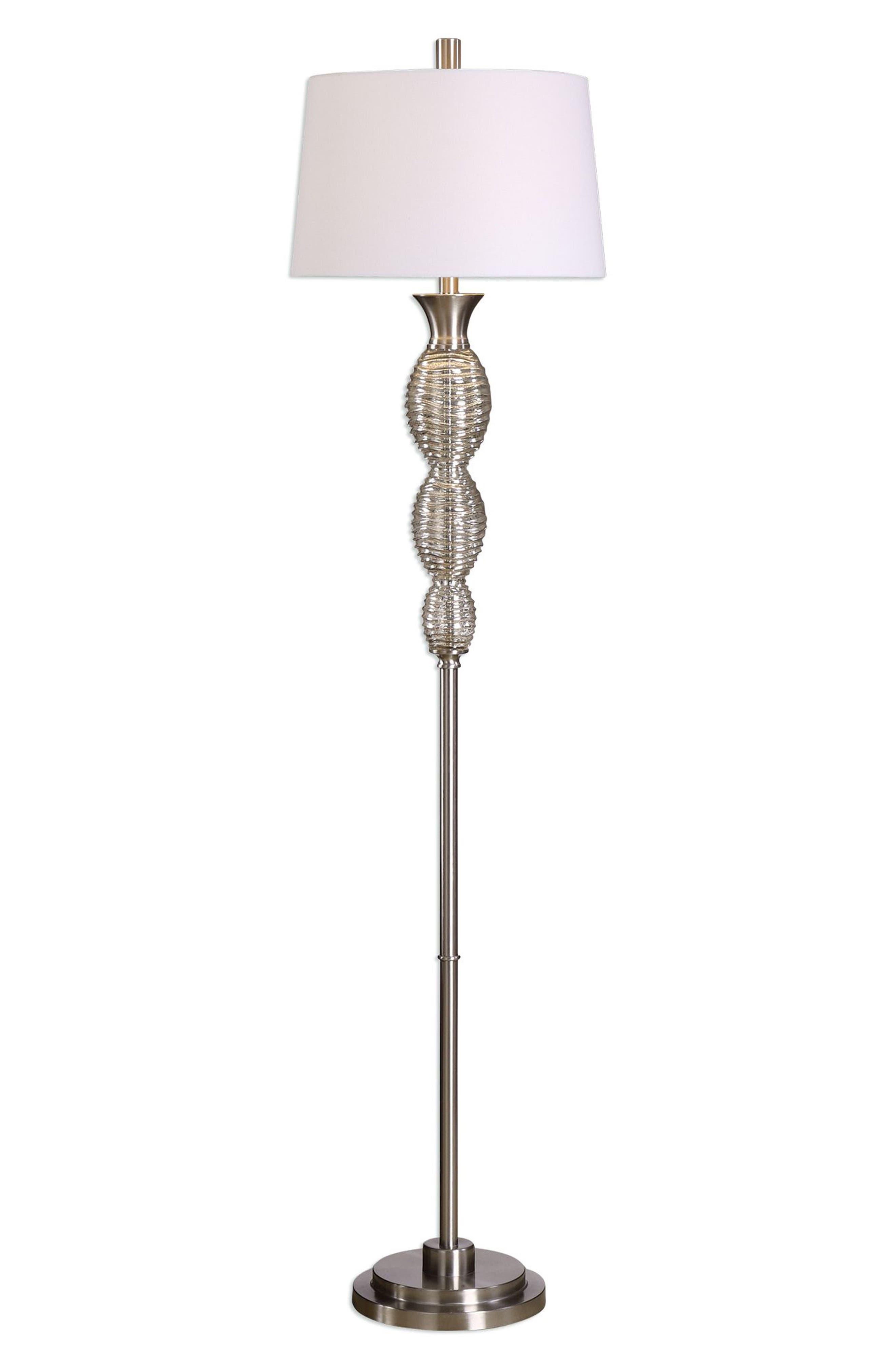 Mercury Glass Floor Lamp,                             Main thumbnail 1, color,                             040