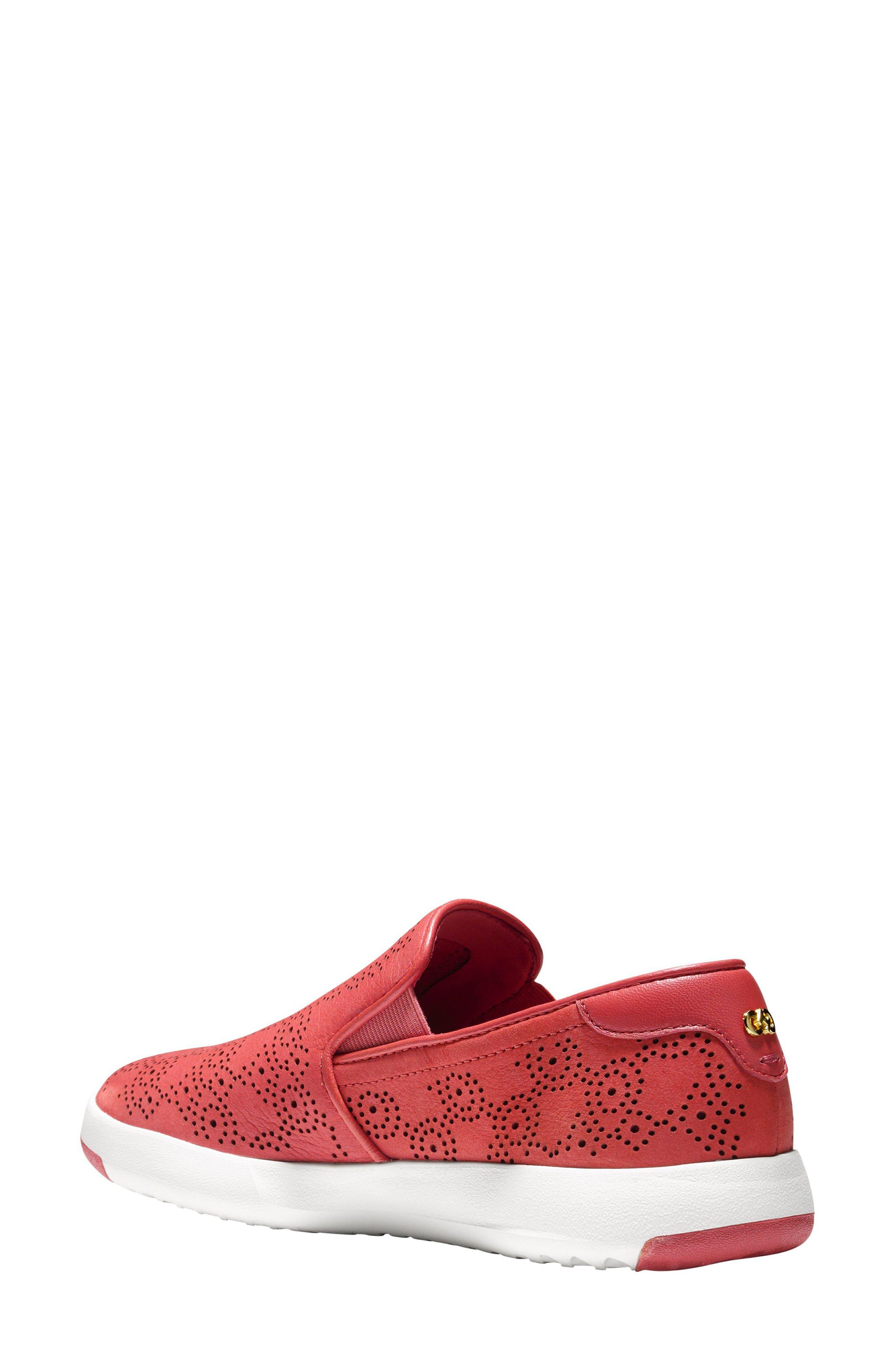 GrandPro Perforated Slip-On Sneaker,                             Alternate thumbnail 4, color,