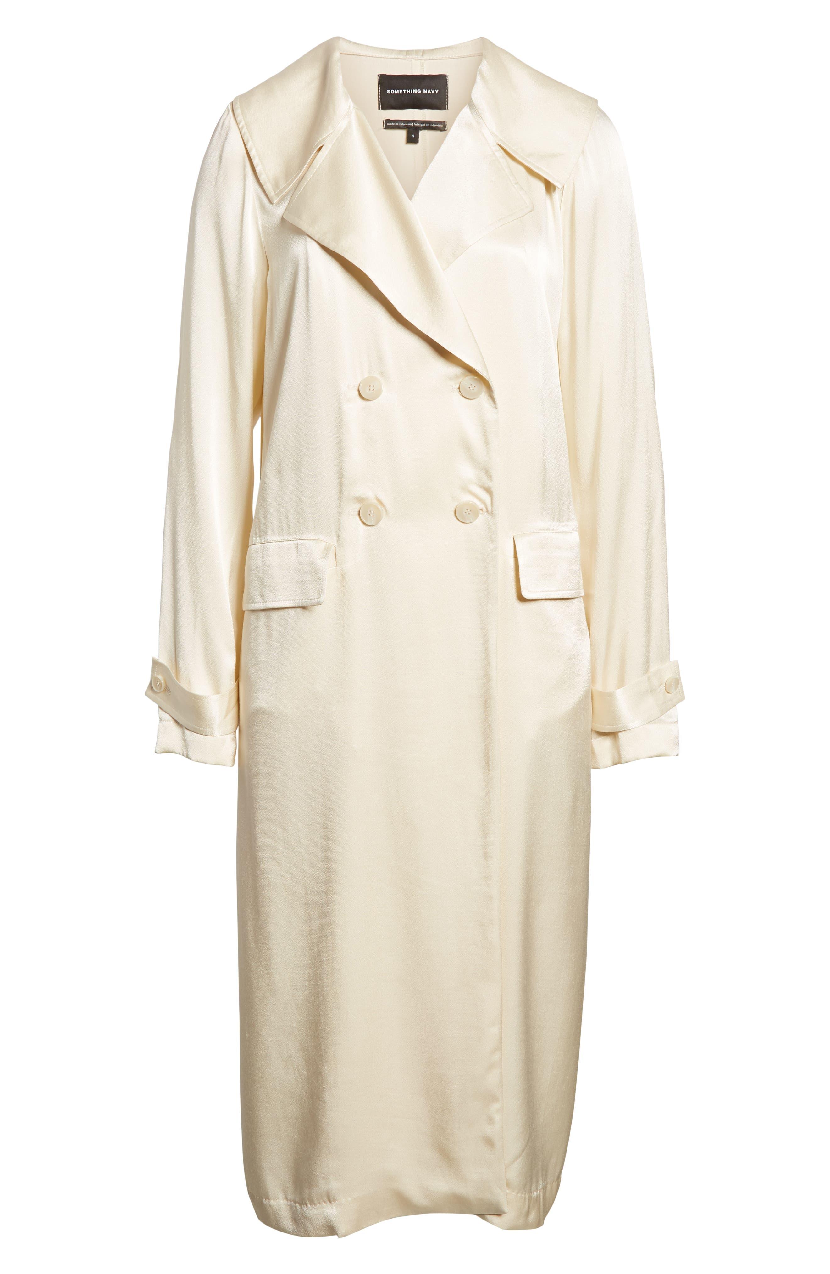 Grand Lapel Coat,                             Alternate thumbnail 6, color,                             IVORY BIRCH