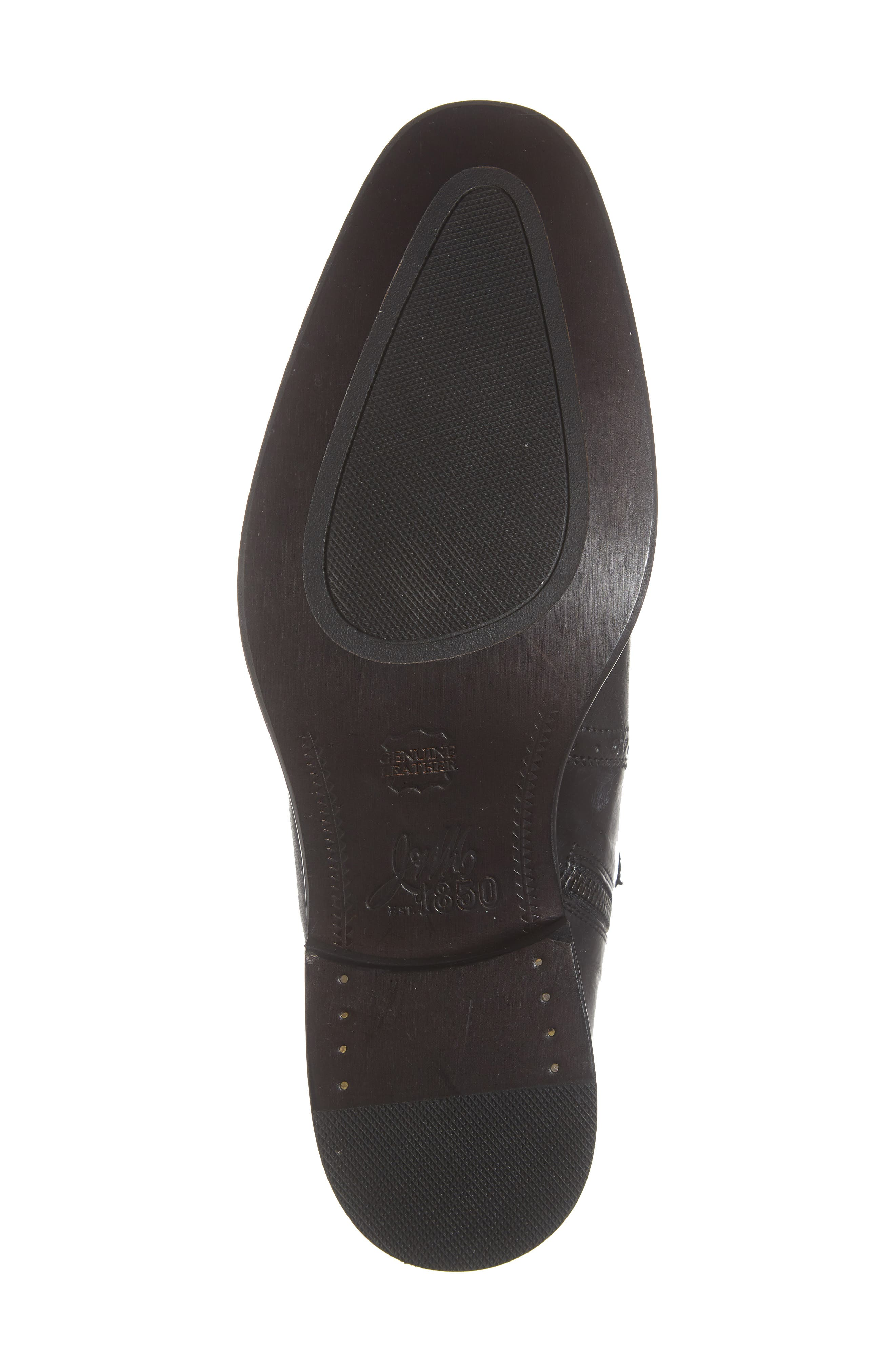 Maxwell Zip Boot,                             Alternate thumbnail 6, color,                             BLACK LEATHER