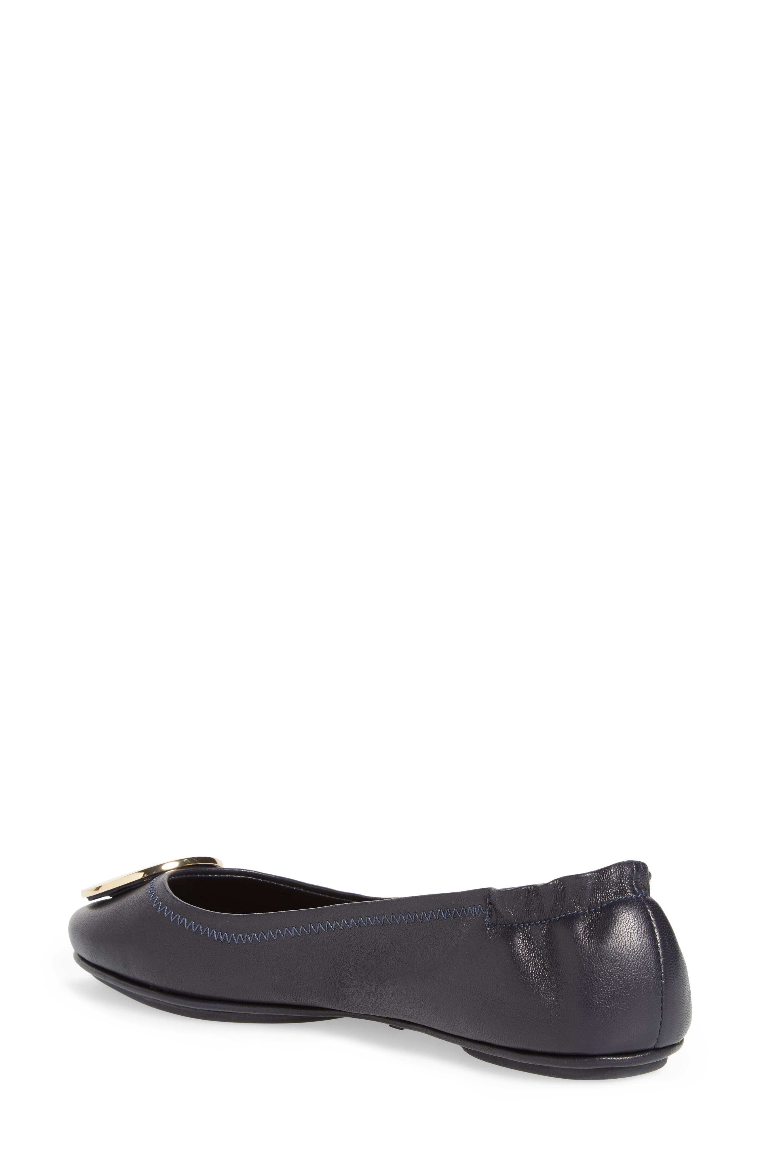 'Minnie' Travel Ballet Flat,                             Alternate thumbnail 2, color,                             PERFECT NAVY