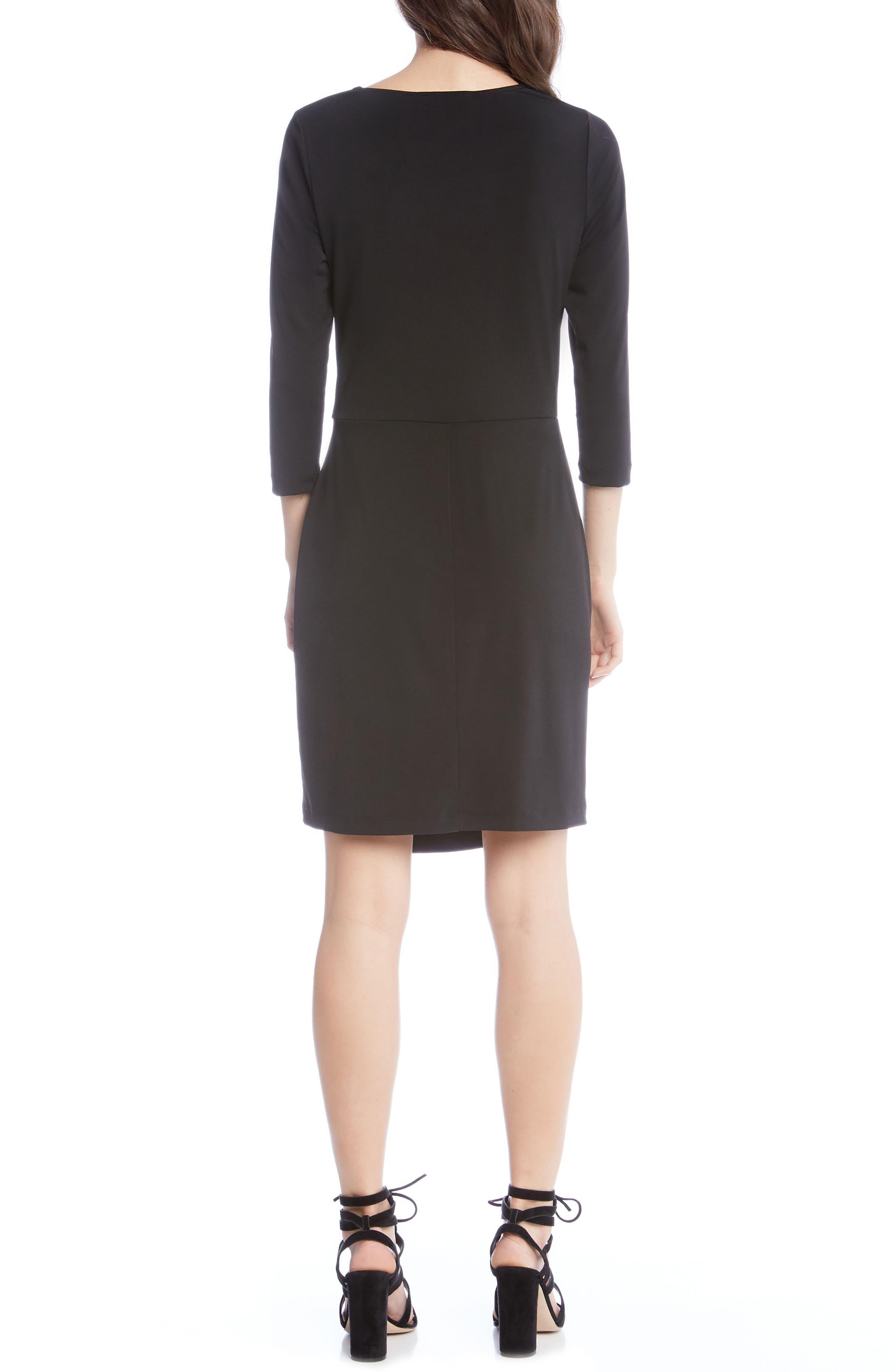 Faux Wrap Dress,                             Alternate thumbnail 2, color,