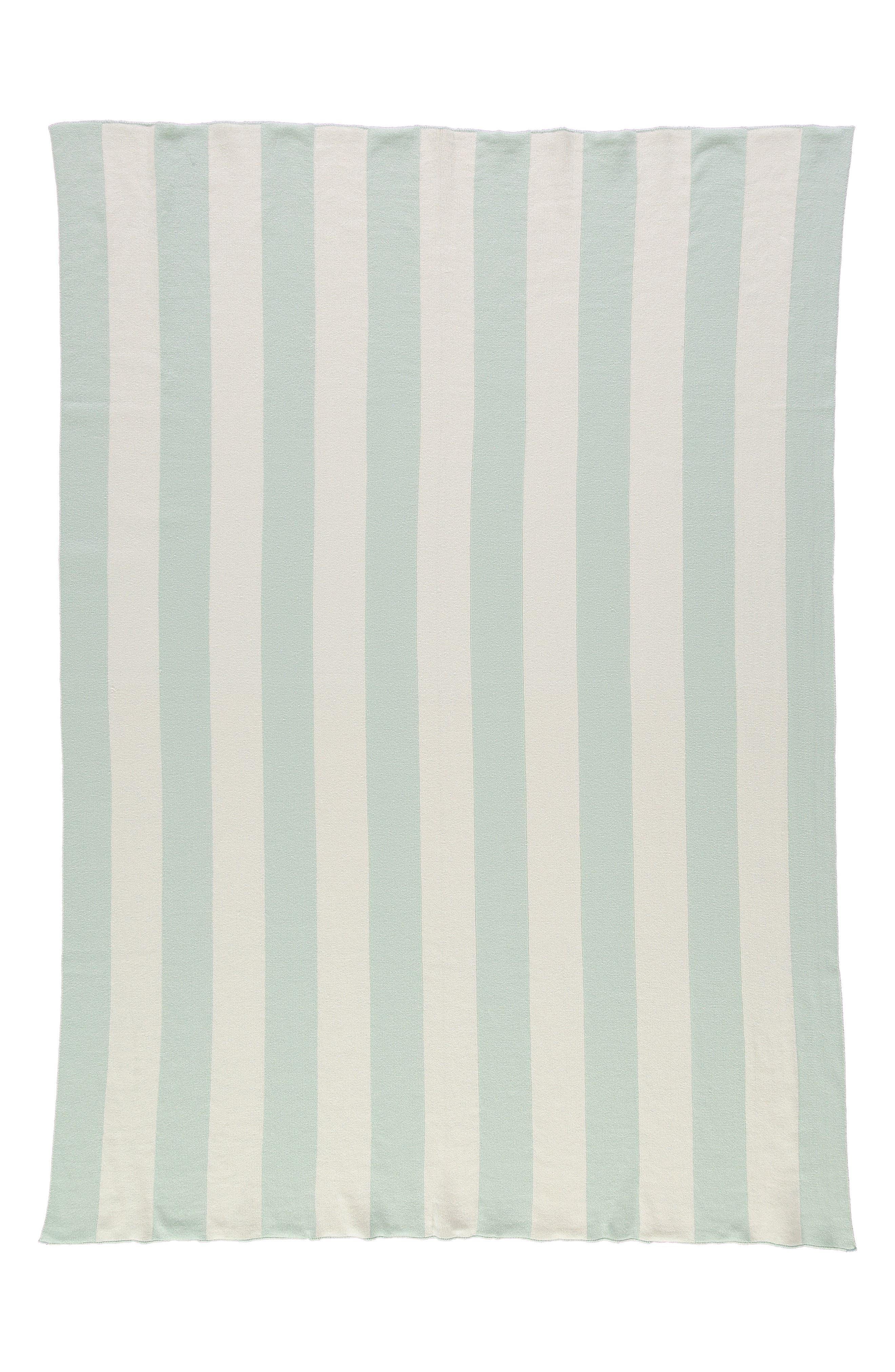 Organic Cotton Knit Blanket,                             Alternate thumbnail 2, color,                             MINT