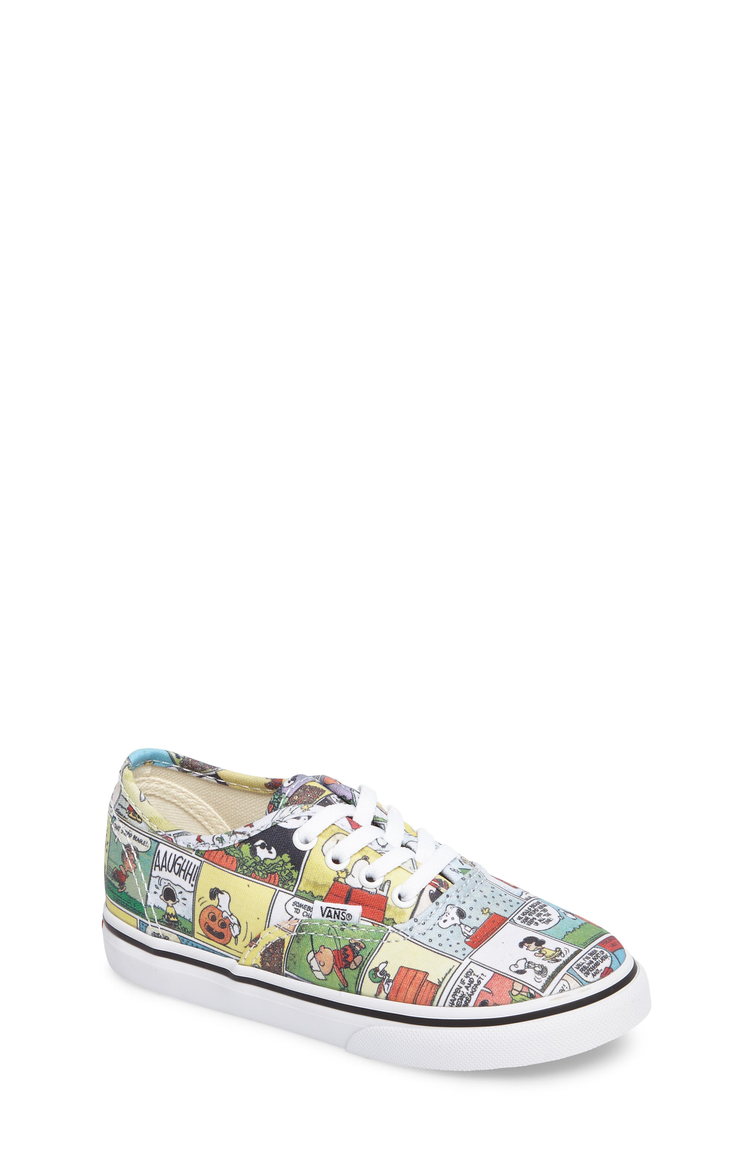 x Peanuts Authentic Low Top Sneaker,                         Main,                         color, 001