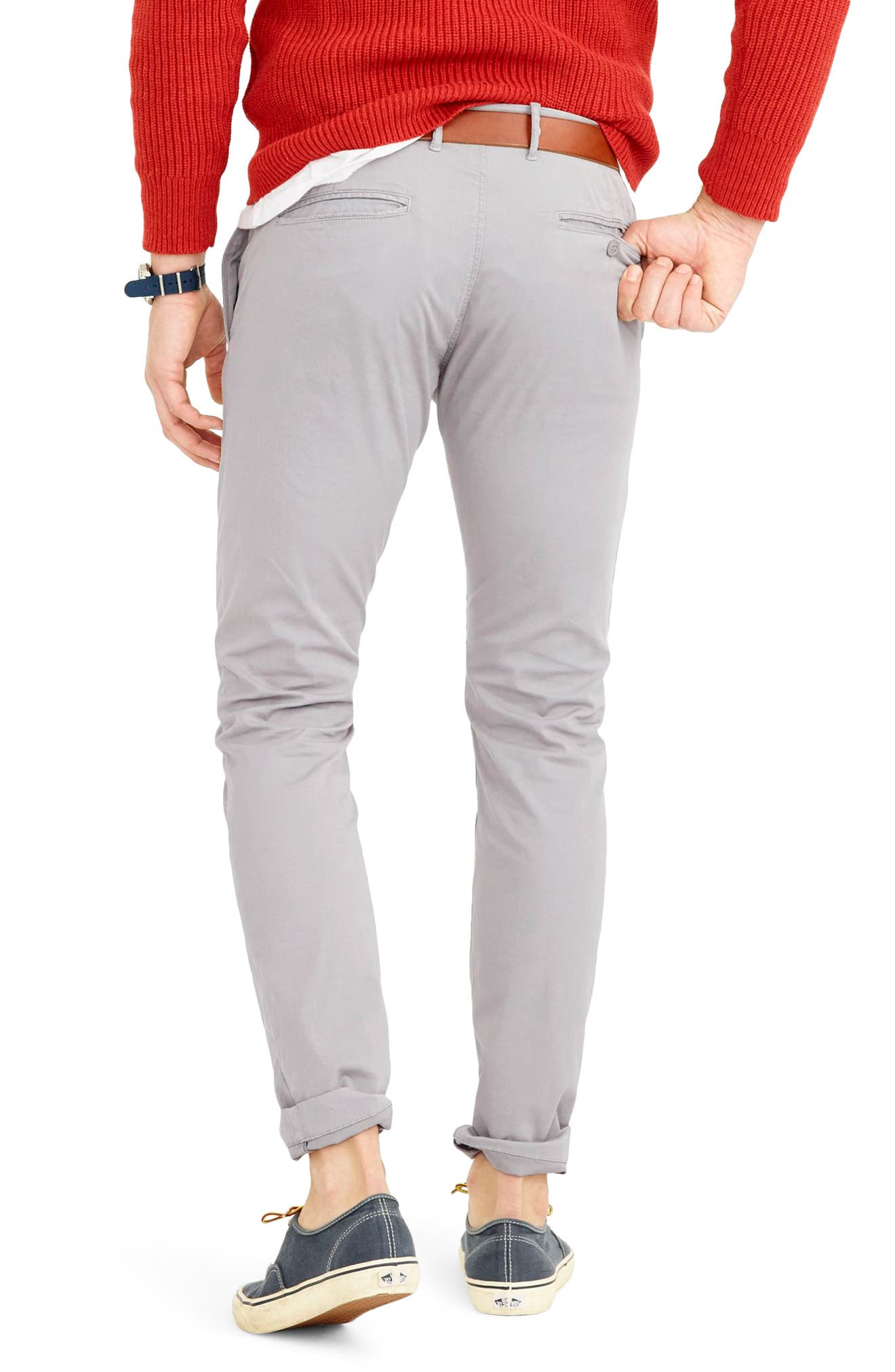 Slim Fit Garment Dyed Stretch Chinos,                             Alternate thumbnail 5, color,