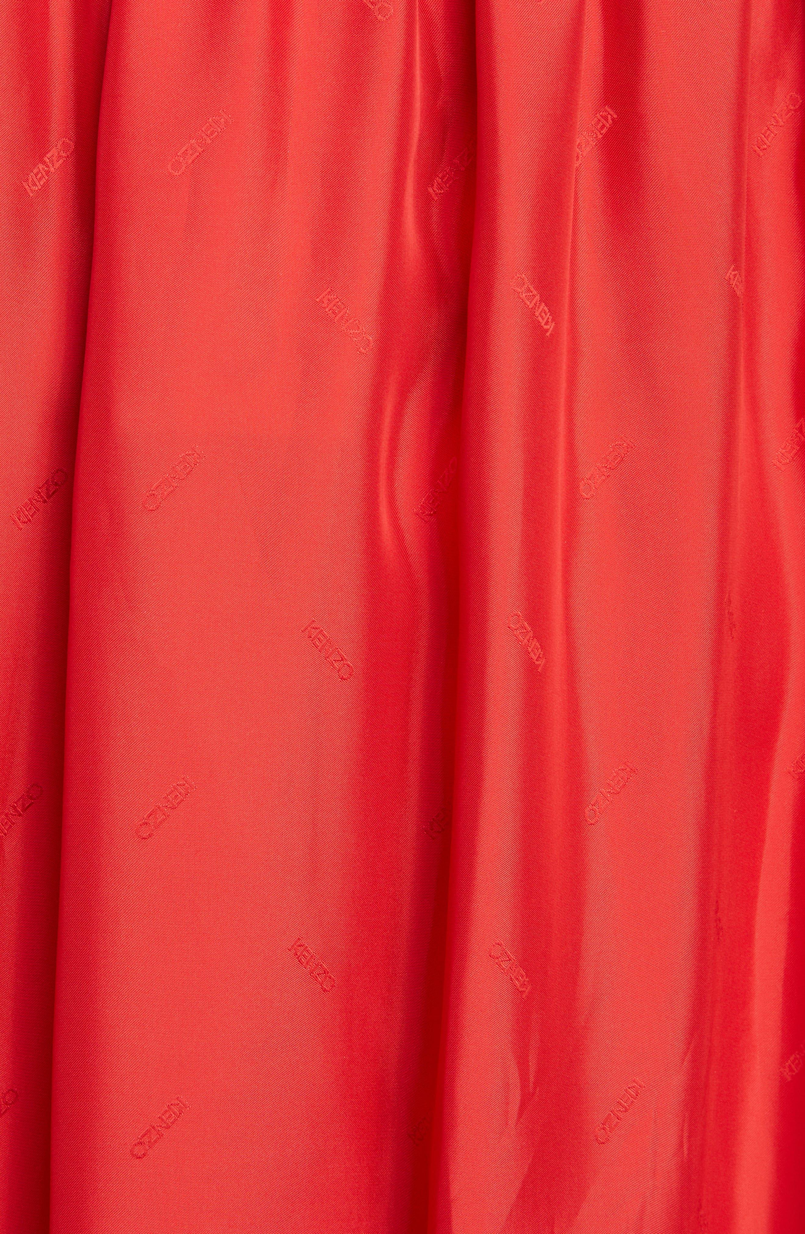 Long Belted Skirt,                             Alternate thumbnail 5, color,                             VISCOSE/ MEDIUM RED