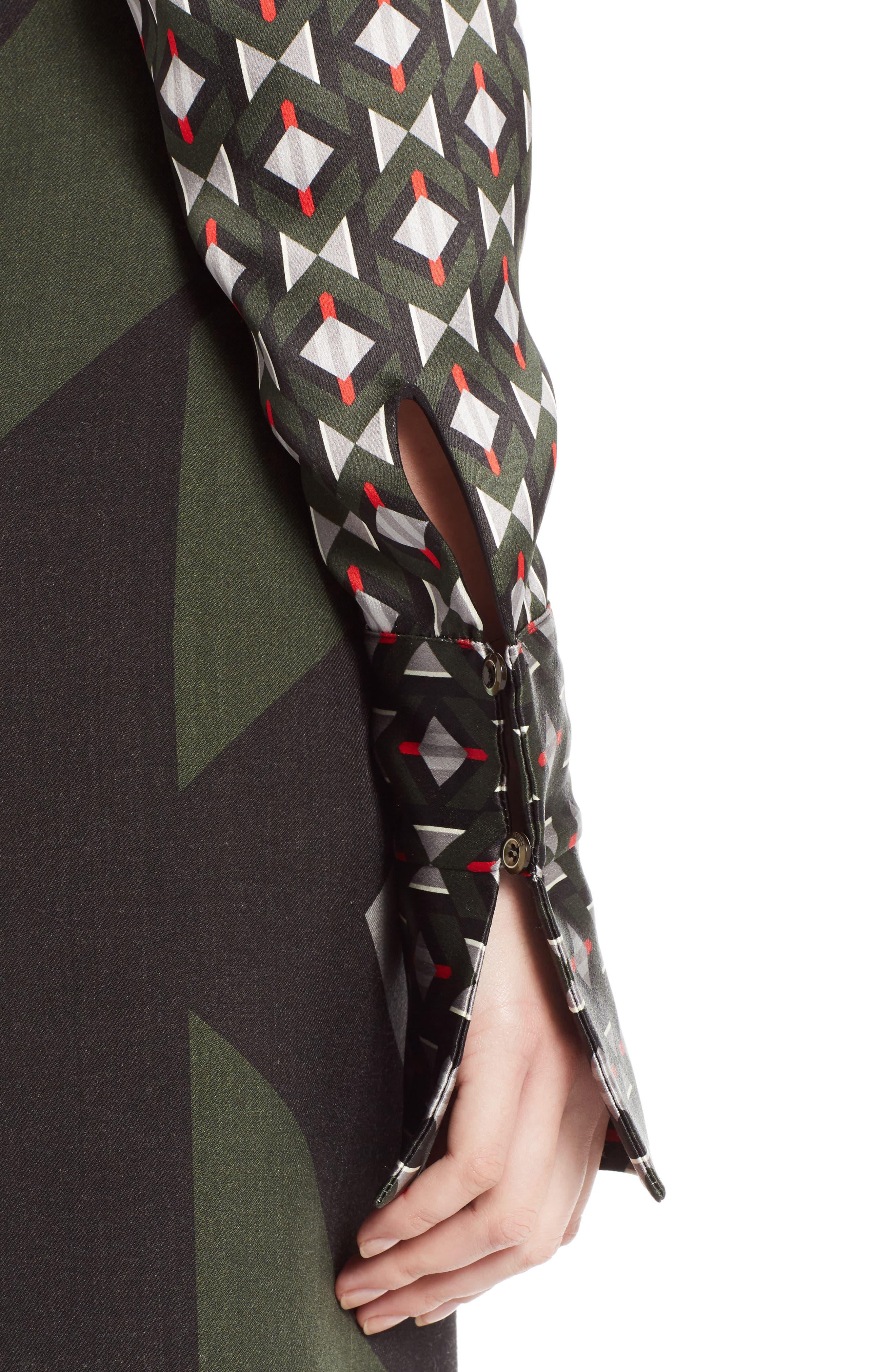 Silk Satin Tie Neck Blouse,                             Alternate thumbnail 4, color,                             300