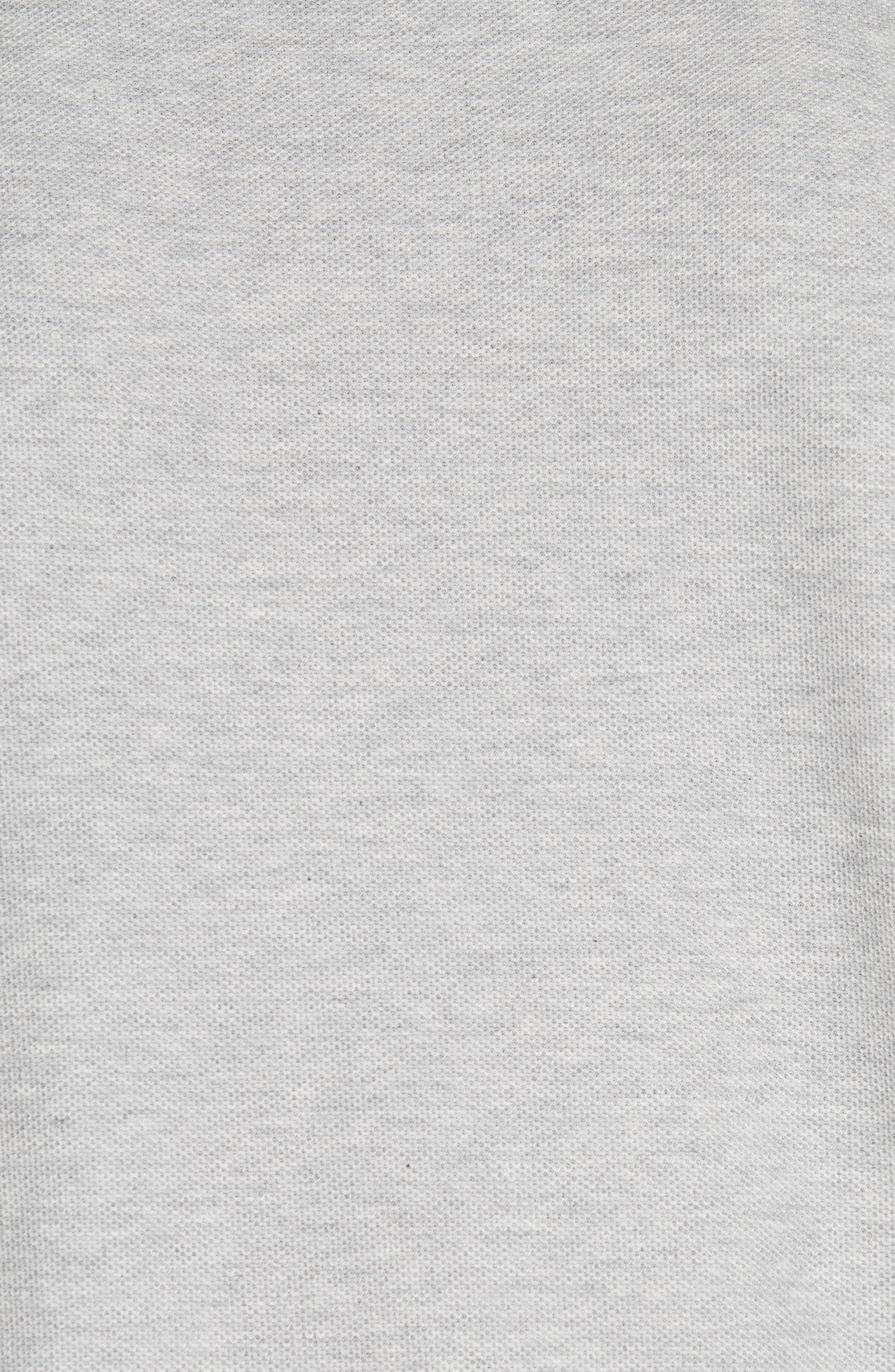 Burnton Multi Logo Polo,                             Alternate thumbnail 5, color,                             PALE GREY MELANGE