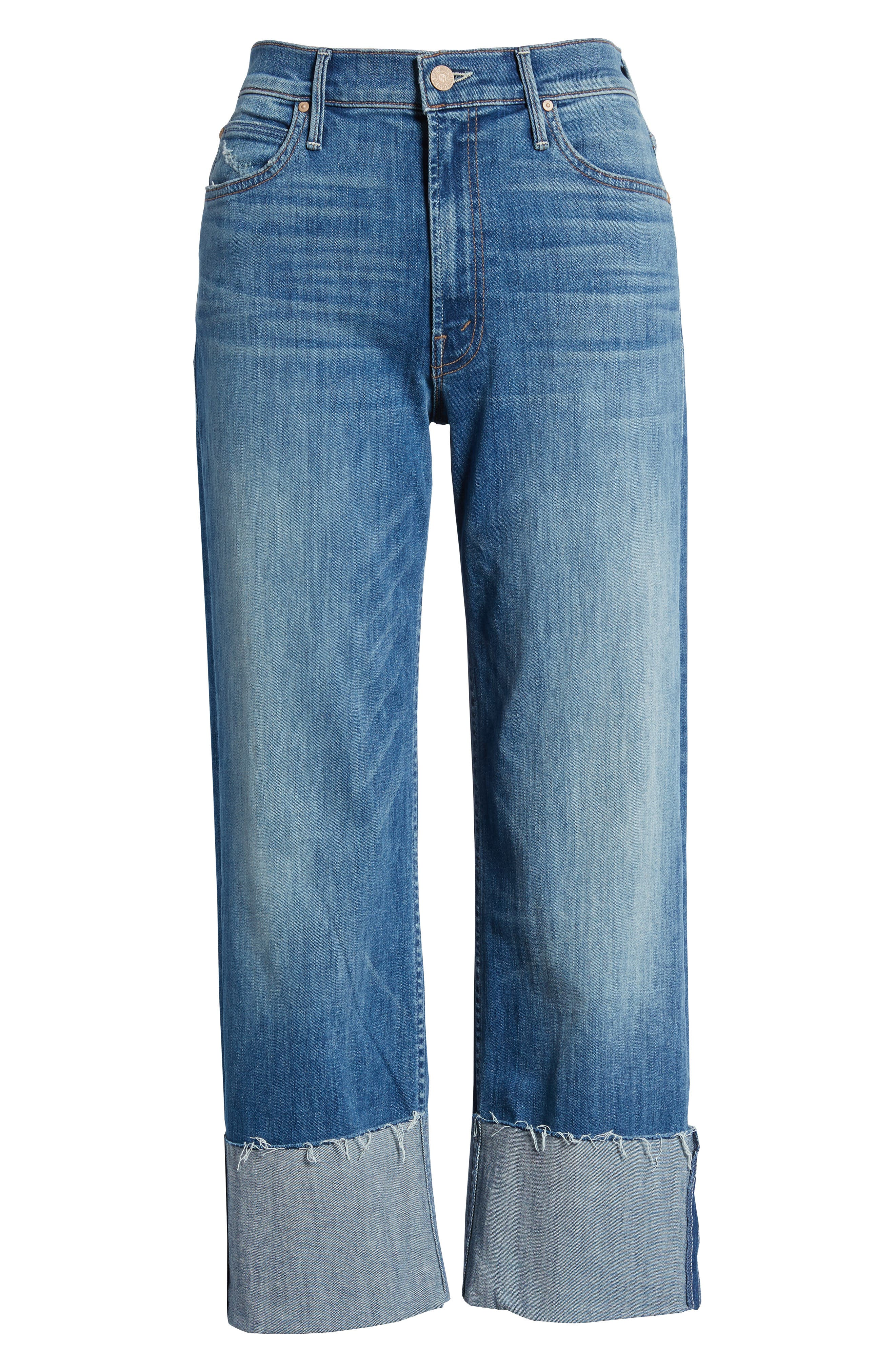 The Dusty Cuff Fray Straight Leg Jeans,                             Alternate thumbnail 7, color,