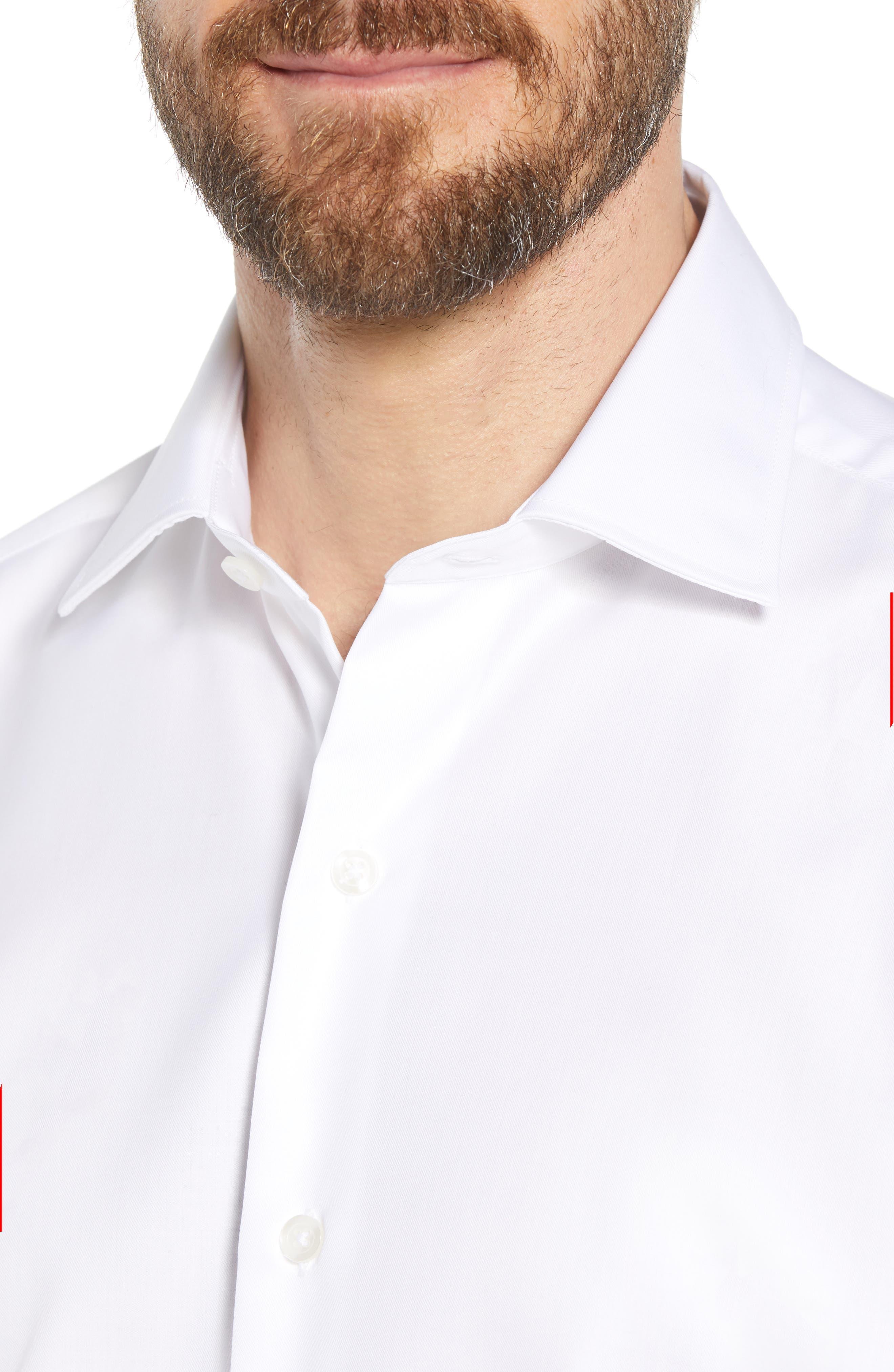 Crease Free Extra Soft Sport Shirt,                             Alternate thumbnail 4, color,                             100