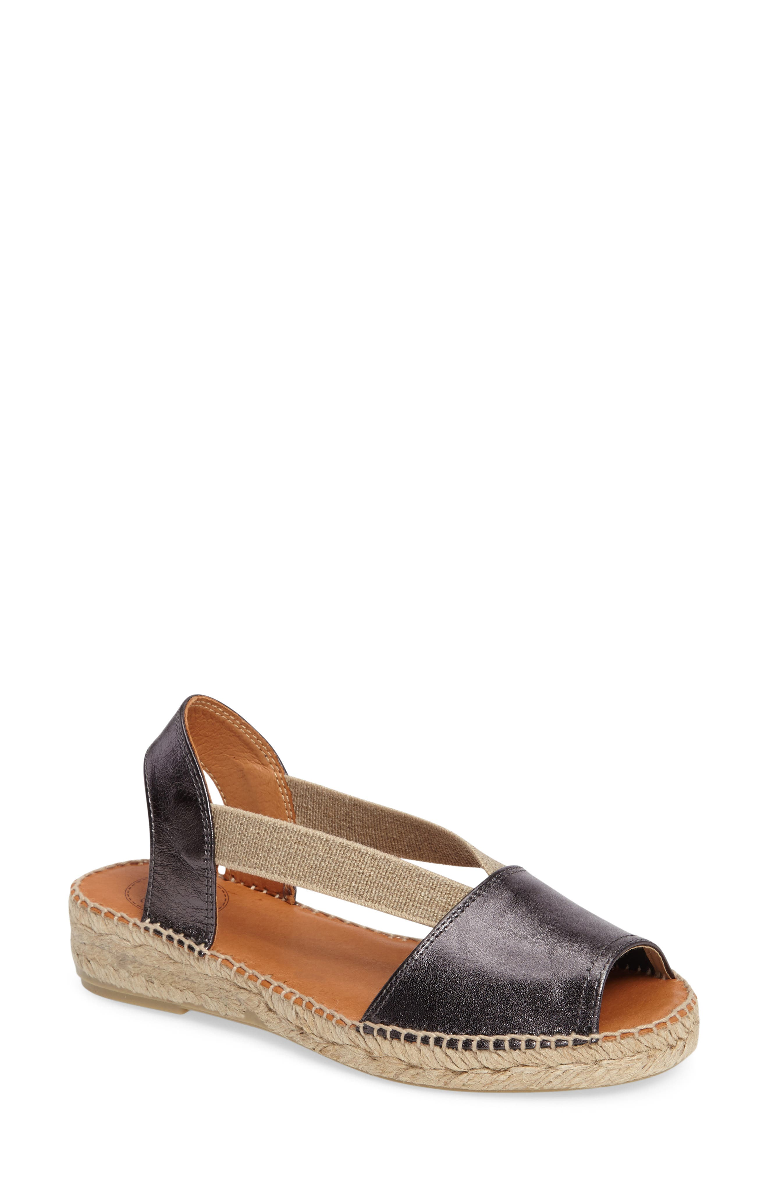 Etna Espadrille Sandal,                         Main,                         color, LEAD LEATHER