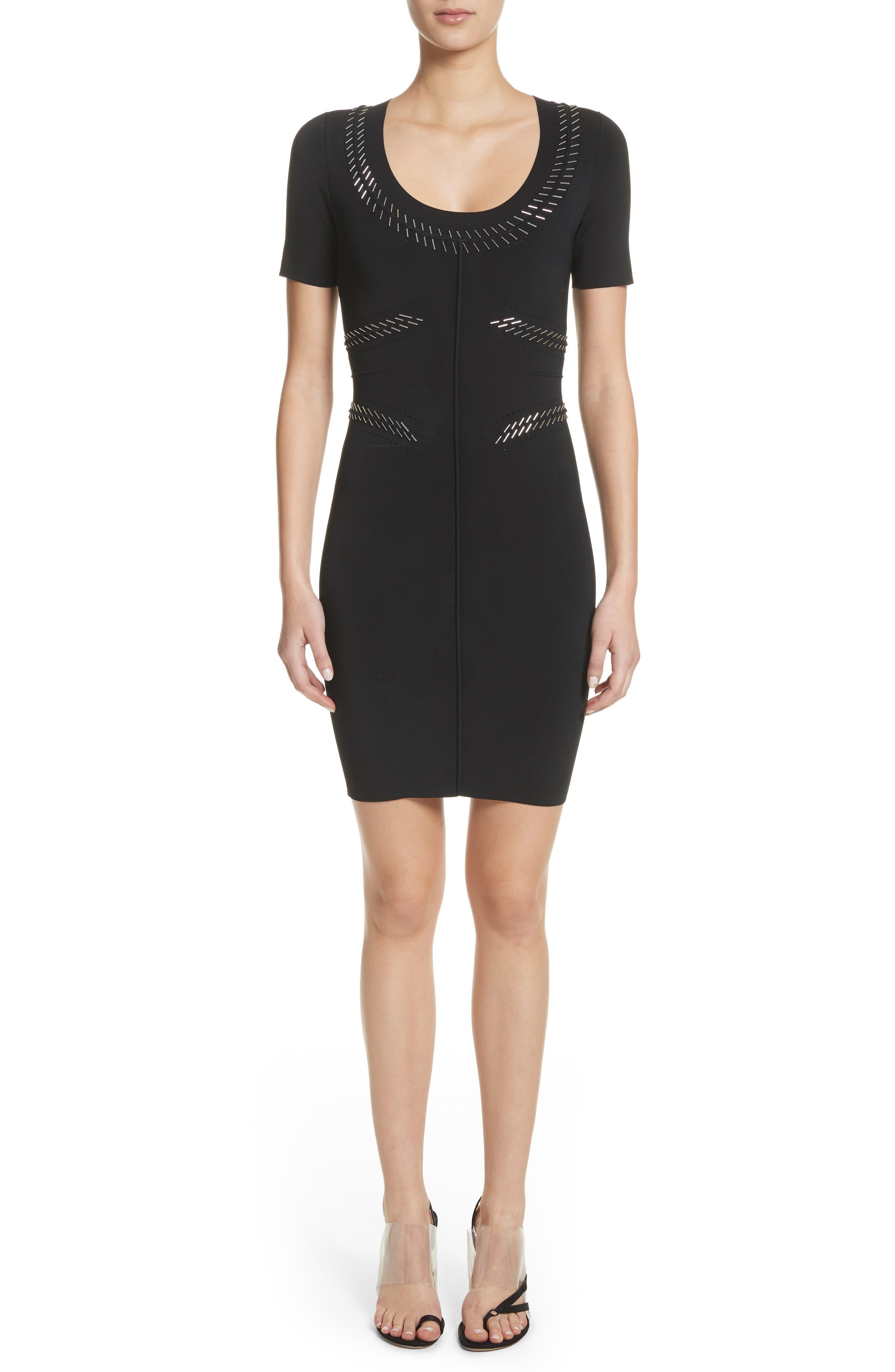 Pin Pierce Darted Dress,                         Main,                         color, 001