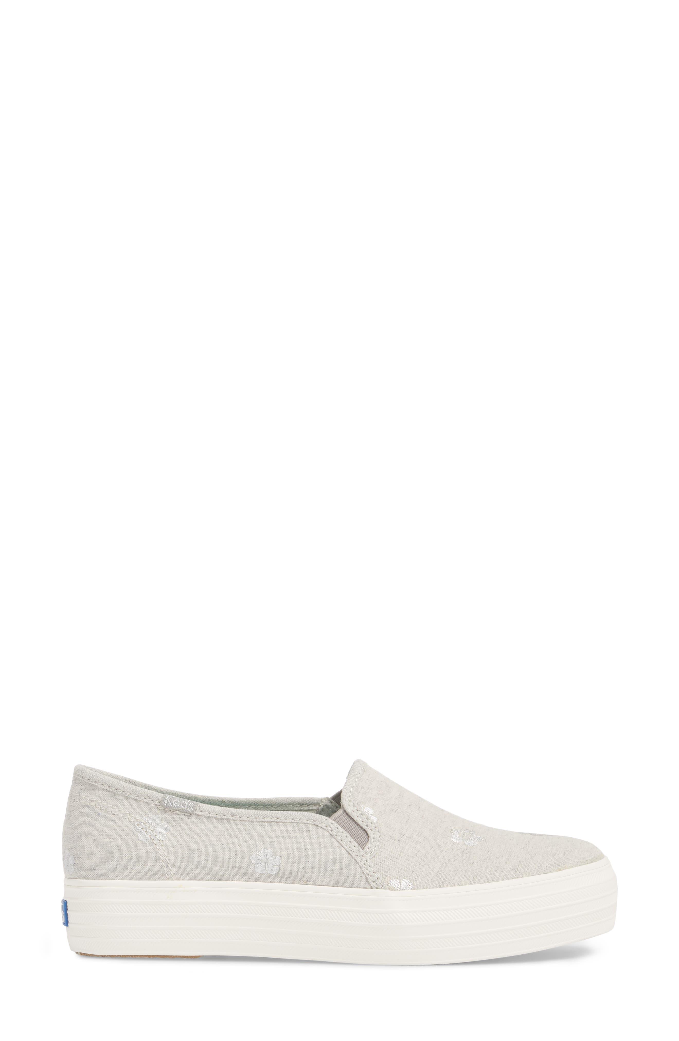Triple Decker Hibiscus Slip-On Platform Sneaker,                             Alternate thumbnail 3, color,                             050