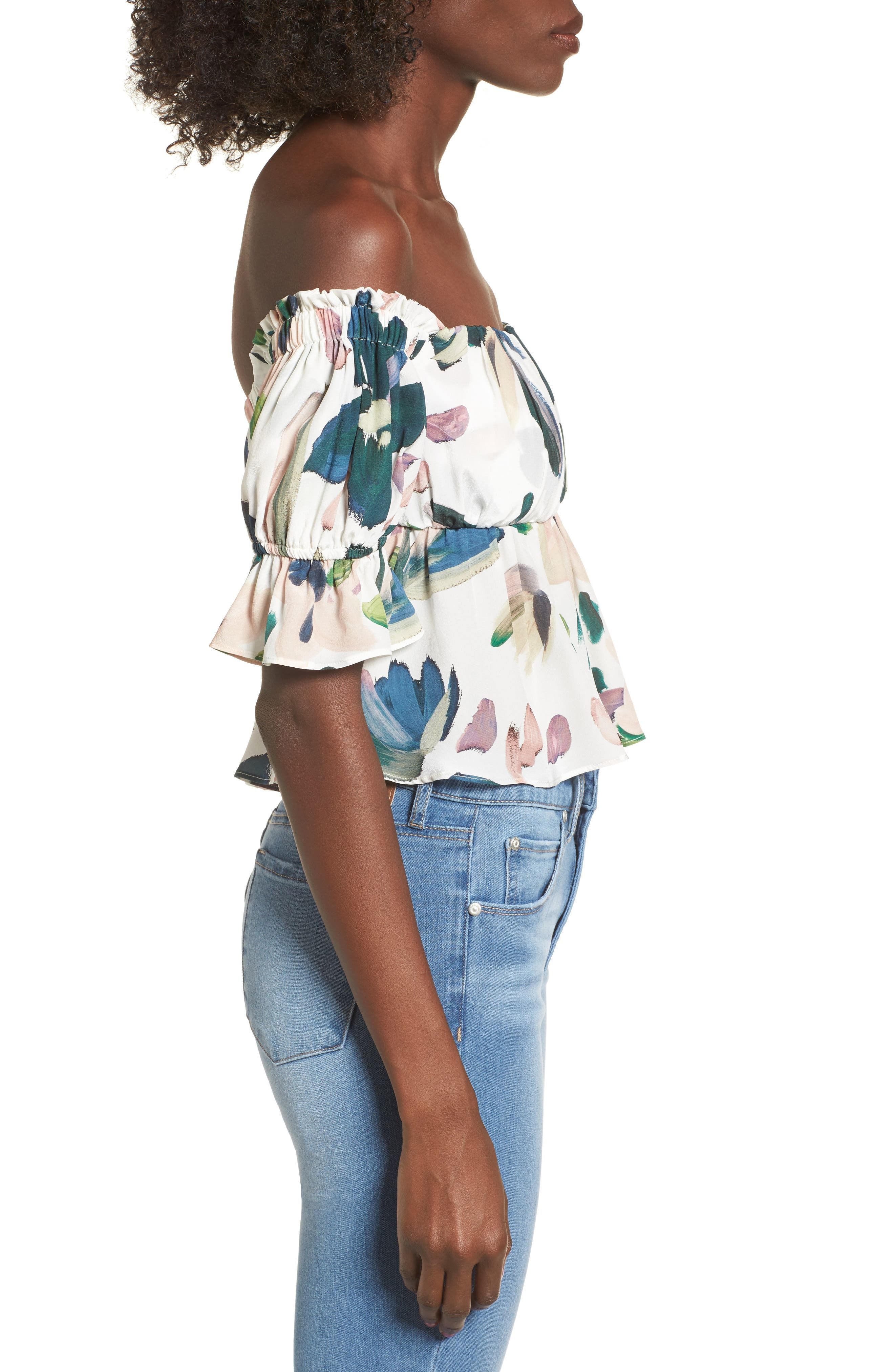 Monte Off the Shoulder Top,                             Alternate thumbnail 3, color,                             100