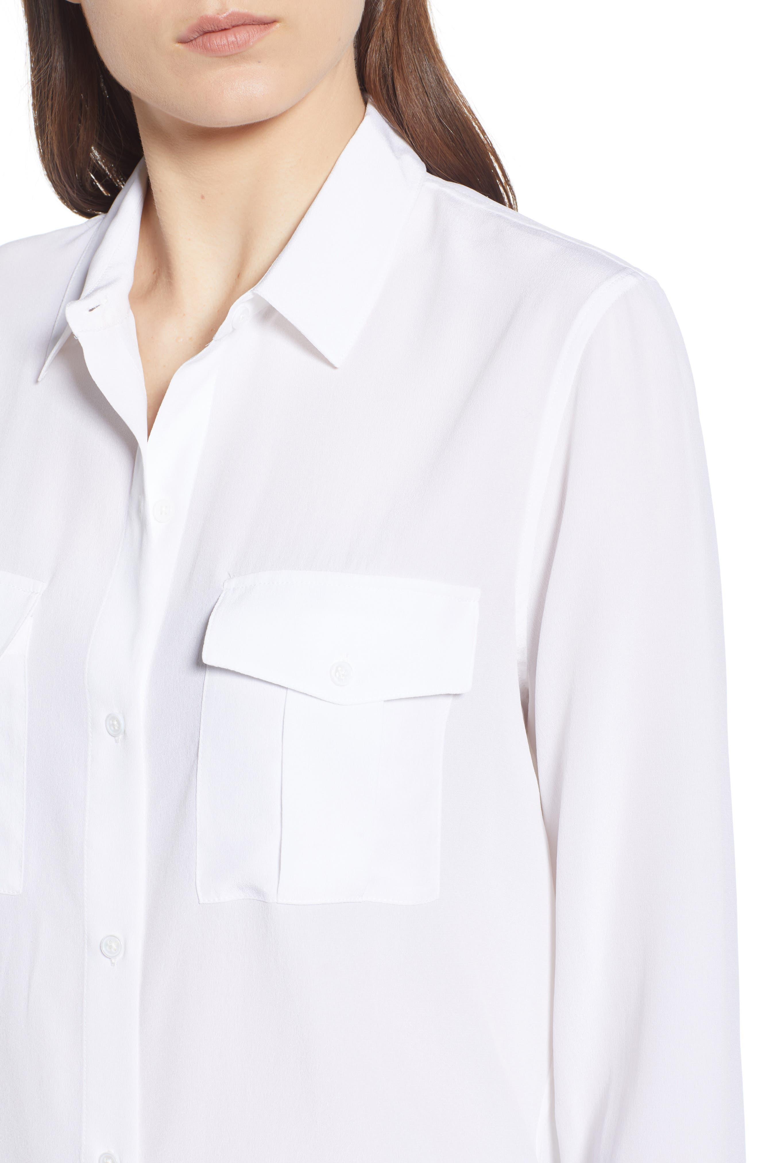 Rhett Silk Shirt,                             Alternate thumbnail 5, color,                             IVORY