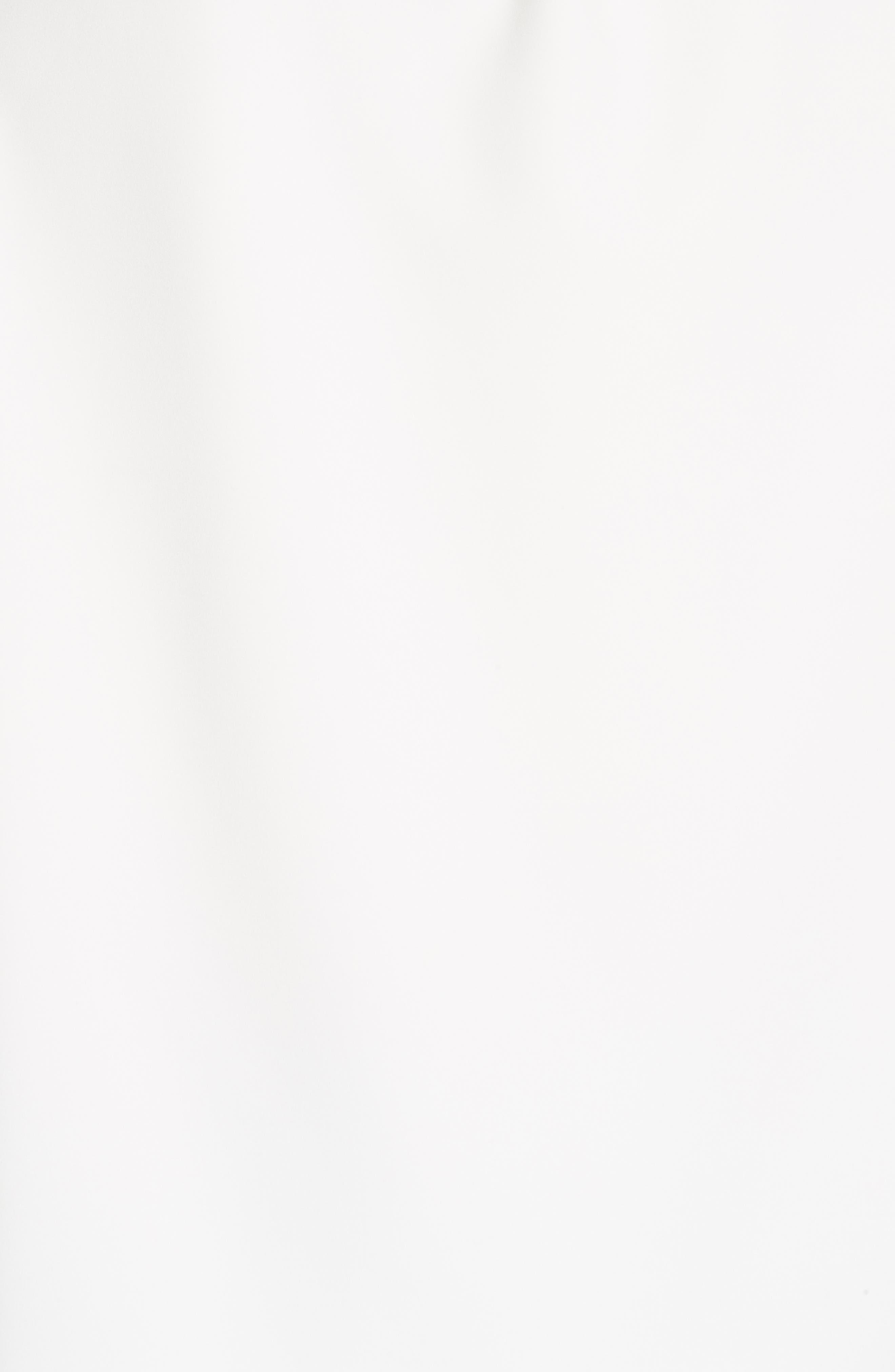 Shirred Neck Top,                             Alternate thumbnail 5, color,                             WHITE