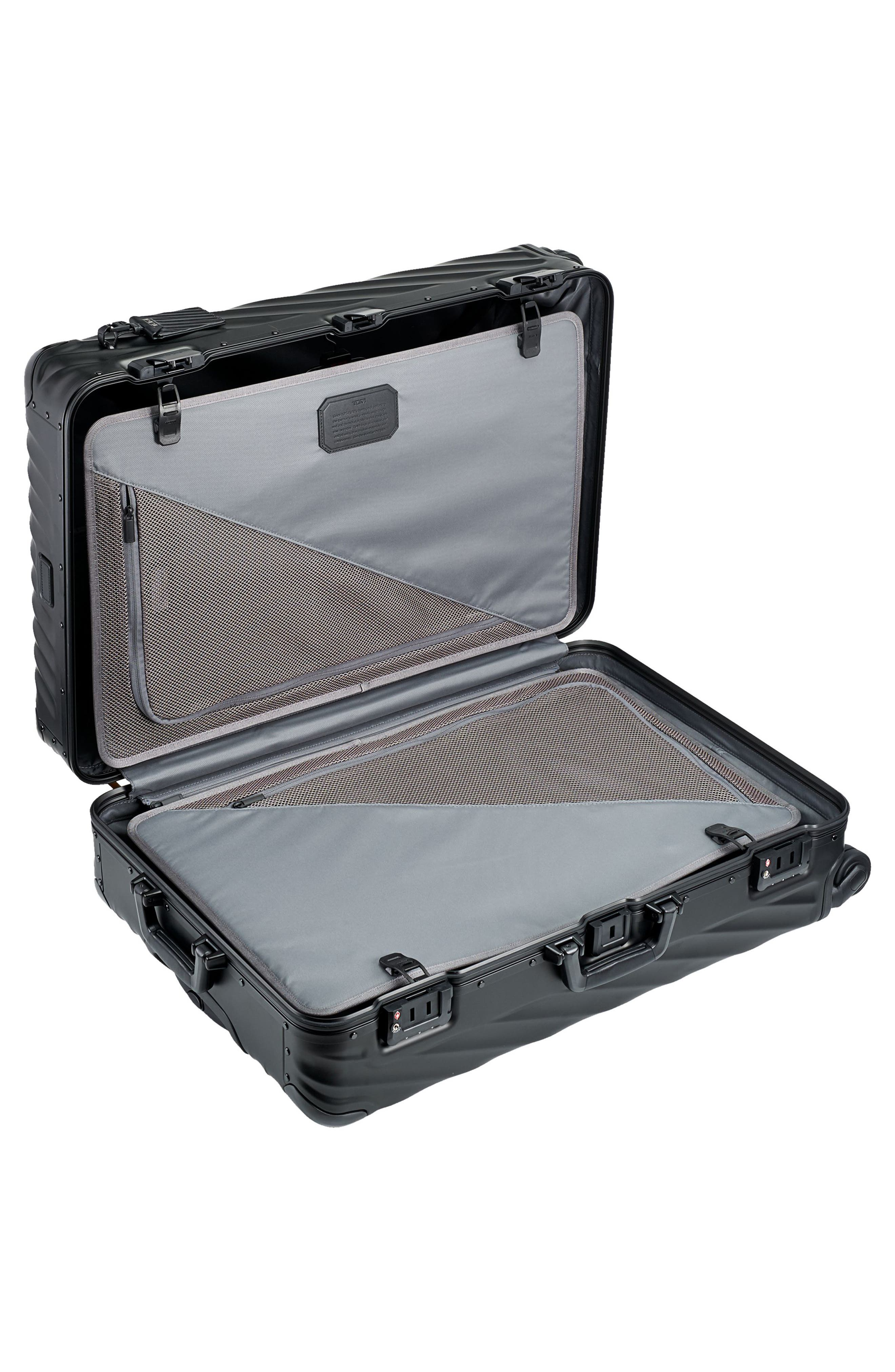 19 Degree 31-Inch Extended Trip Wheeled Aluminum Packing Case,                             Alternate thumbnail 6, color,                             MATTE BLACK