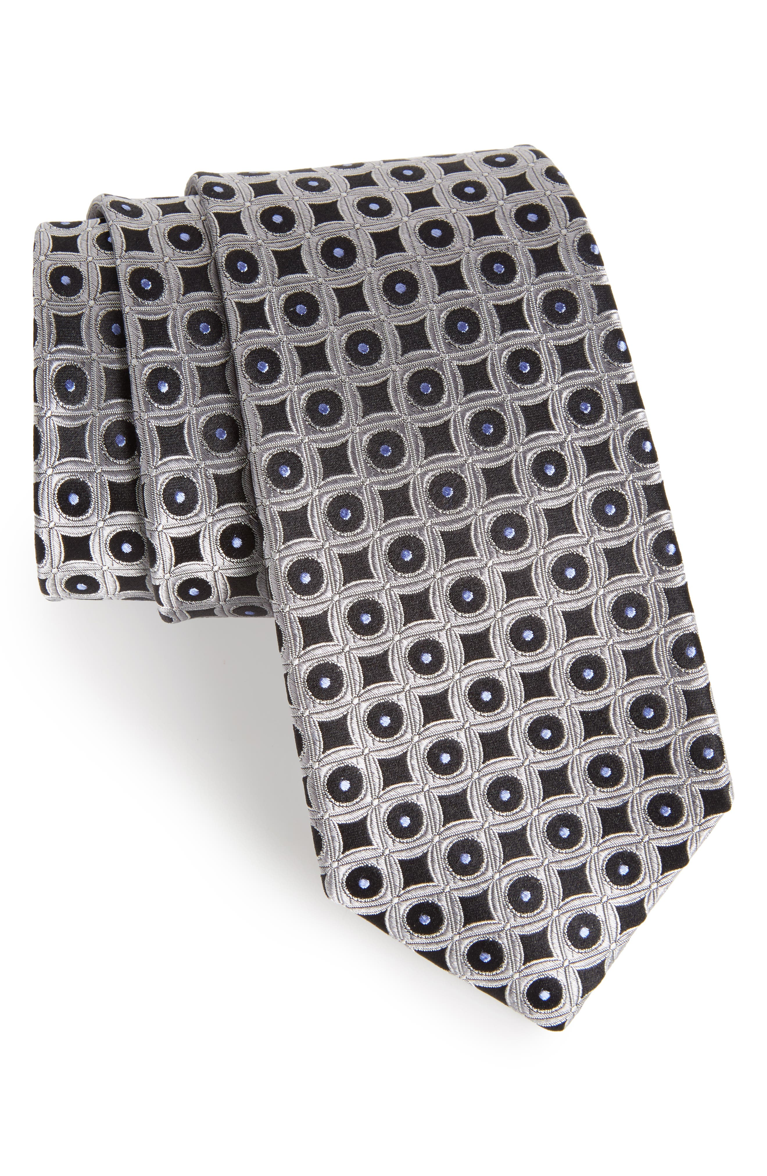 Criss Cross Geometric Silk Tie,                             Main thumbnail 1, color,                             040