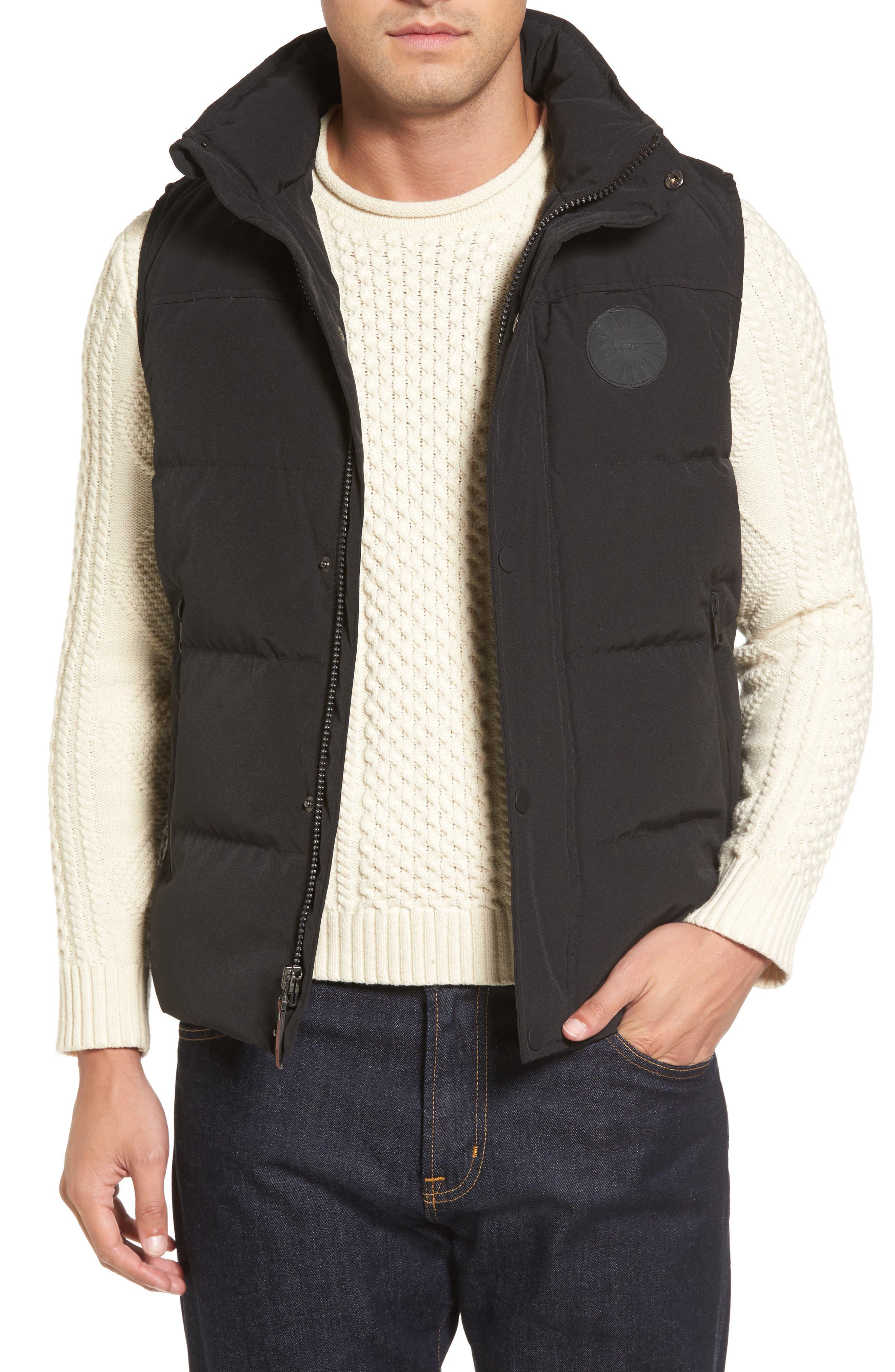 Water-Resistant Down Vest,                             Main thumbnail 1, color,                             001
