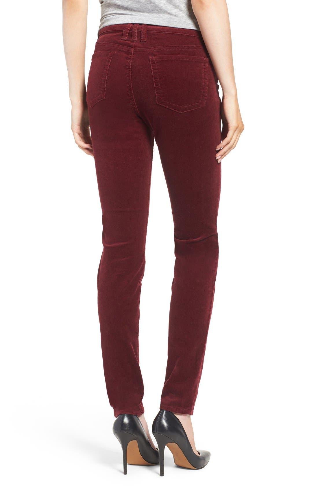 'Diana' Stretch Corduroy Skinny Pants,                             Alternate thumbnail 156, color,