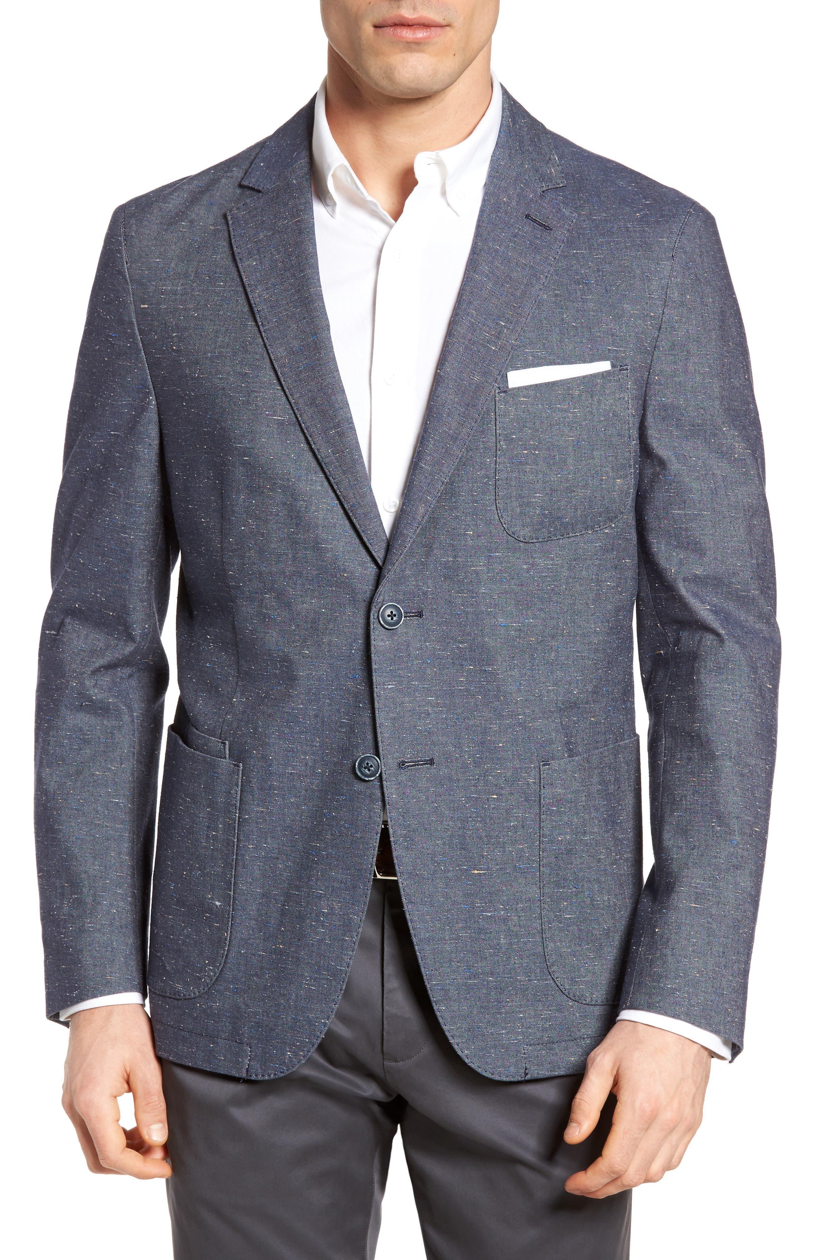 Draper Herringbone Sport Coat,                         Main,                         color, 420
