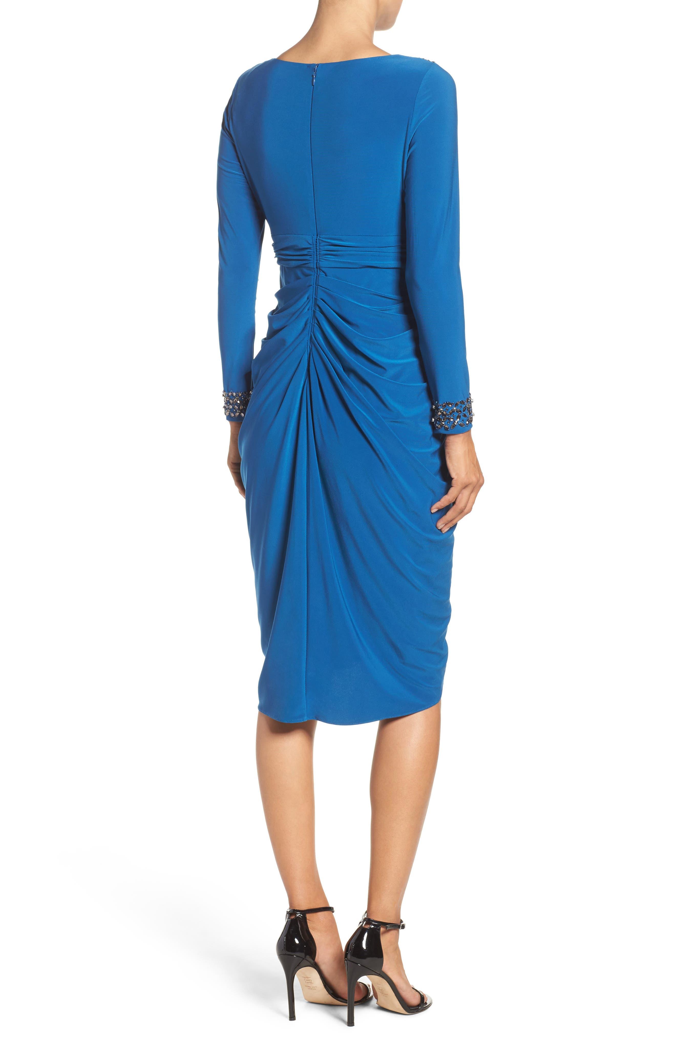 Embellished Wrap Dress,                             Alternate thumbnail 2, color,                             480