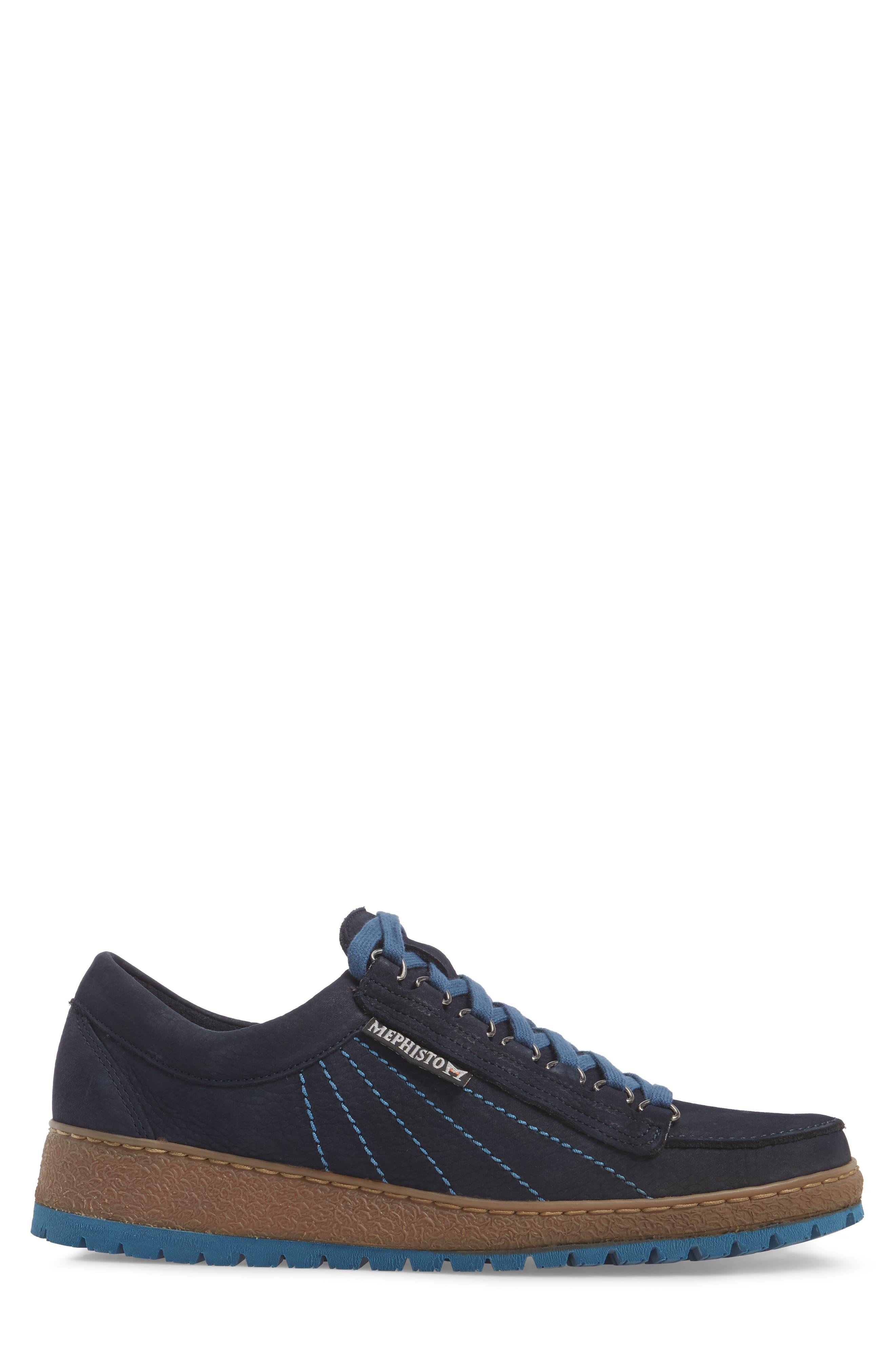 Rainbow Sneaker,                             Alternate thumbnail 3, color,                             NAVY BLUE SUEDE