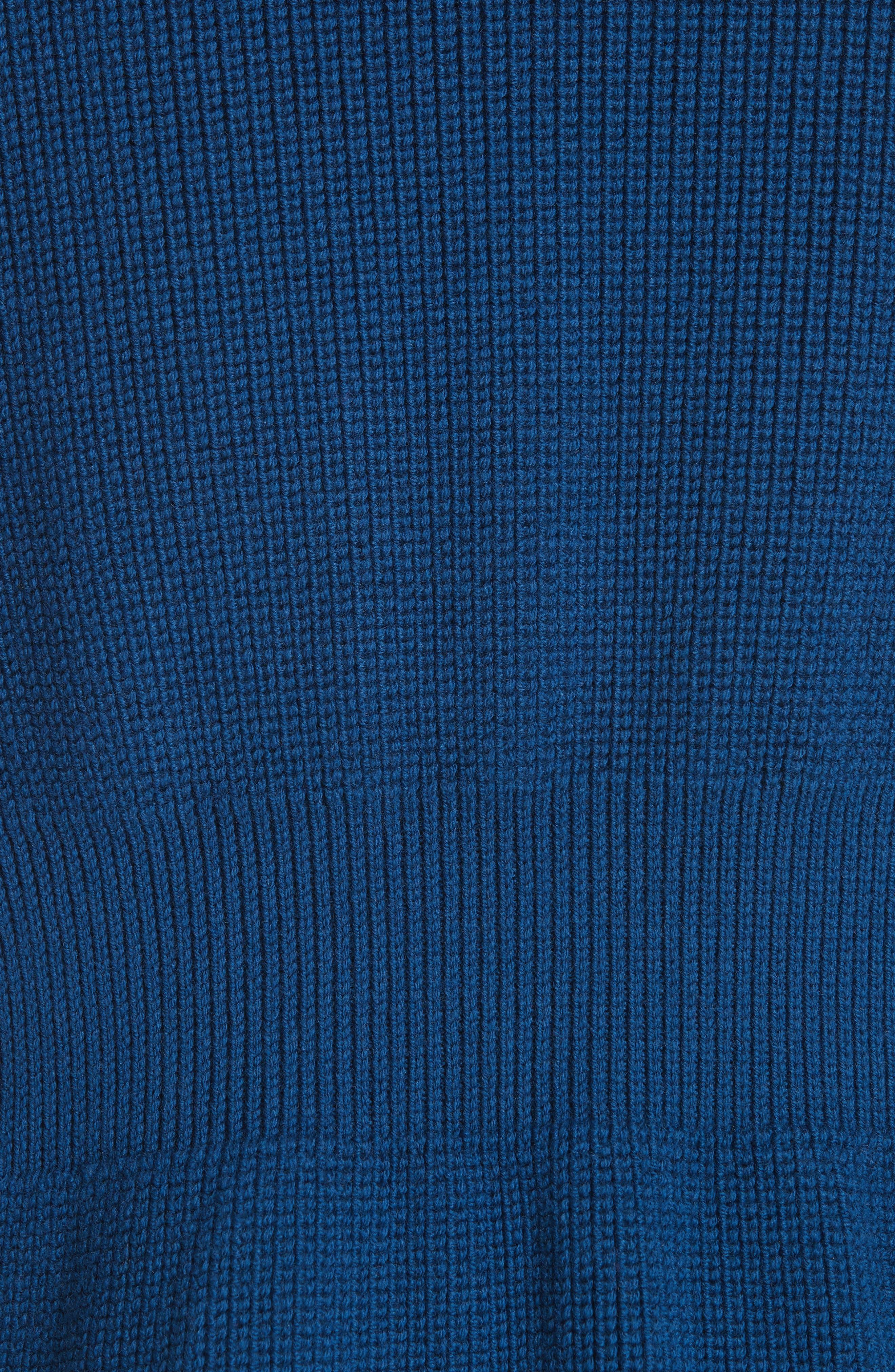 Wool Turtleneck Vest,                             Alternate thumbnail 5, color,                             SHADOW BLUE