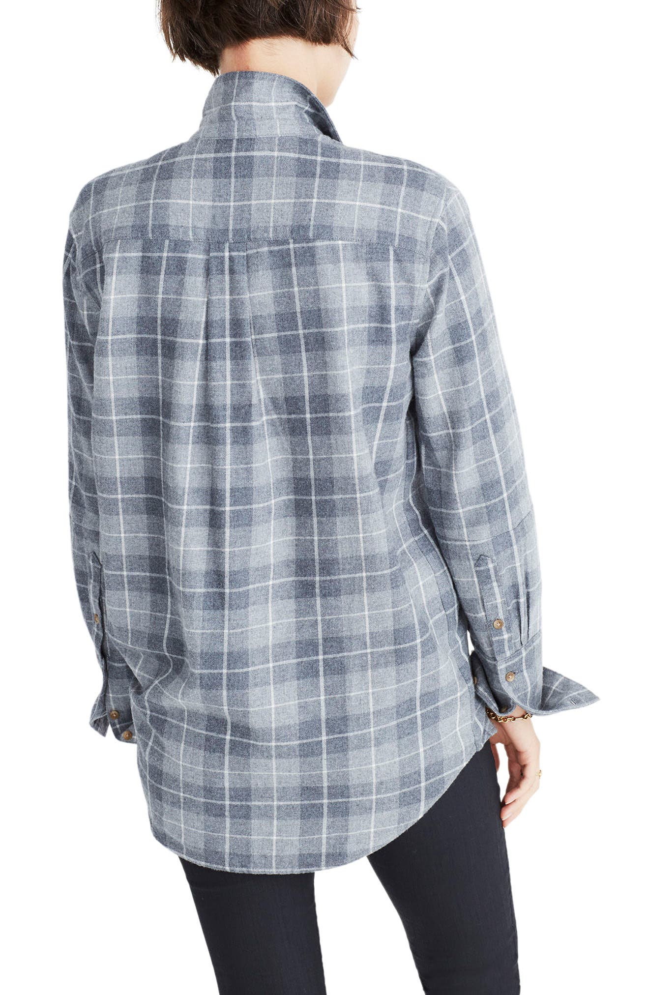 Bristol Plaid Flannel Shirt,                             Alternate thumbnail 2, color,                             020