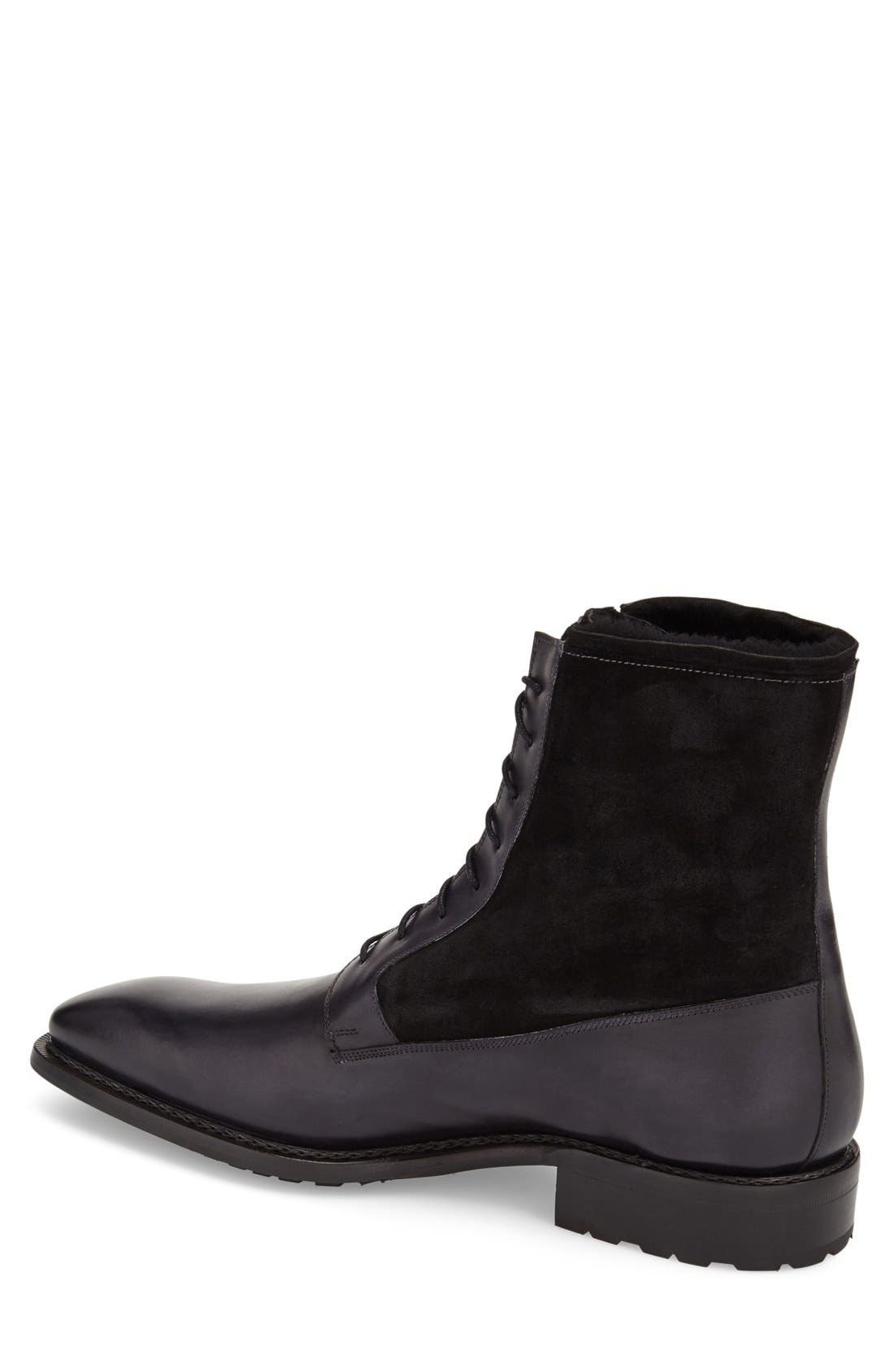 'Luzern' Genuine Shearling Boot,                             Alternate thumbnail 4, color,