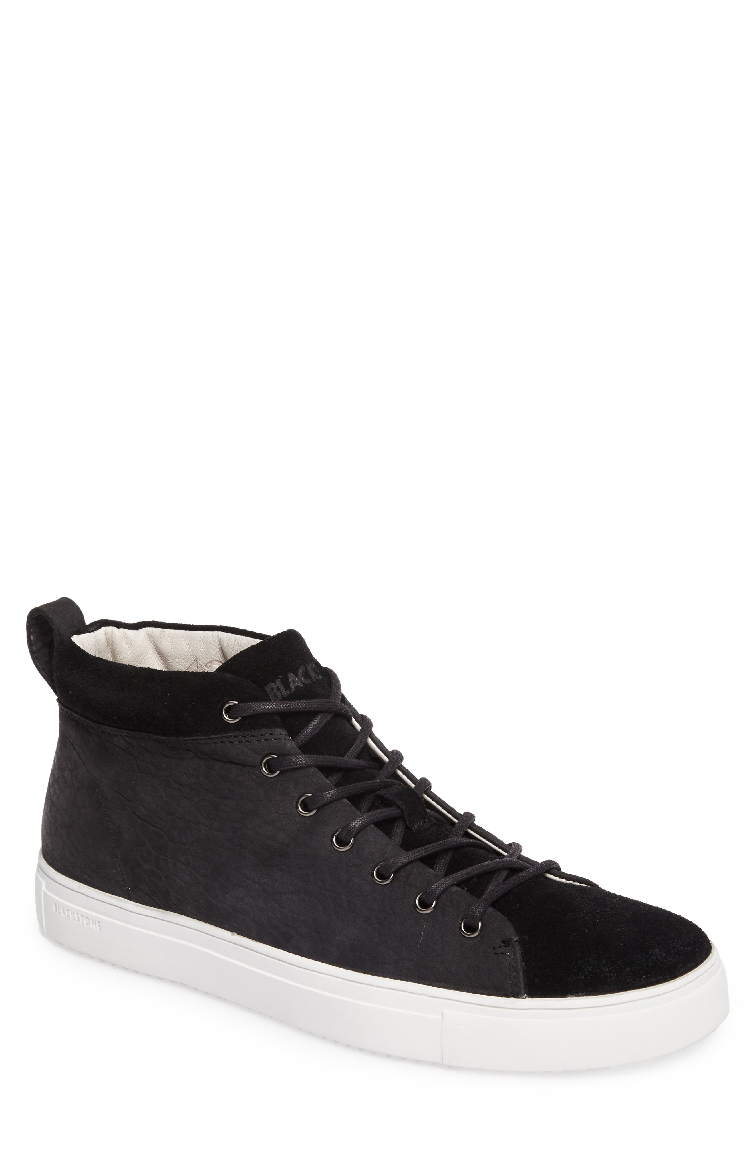 OM 56 Sneaker,                         Main,                         color, BLACK LEATHER