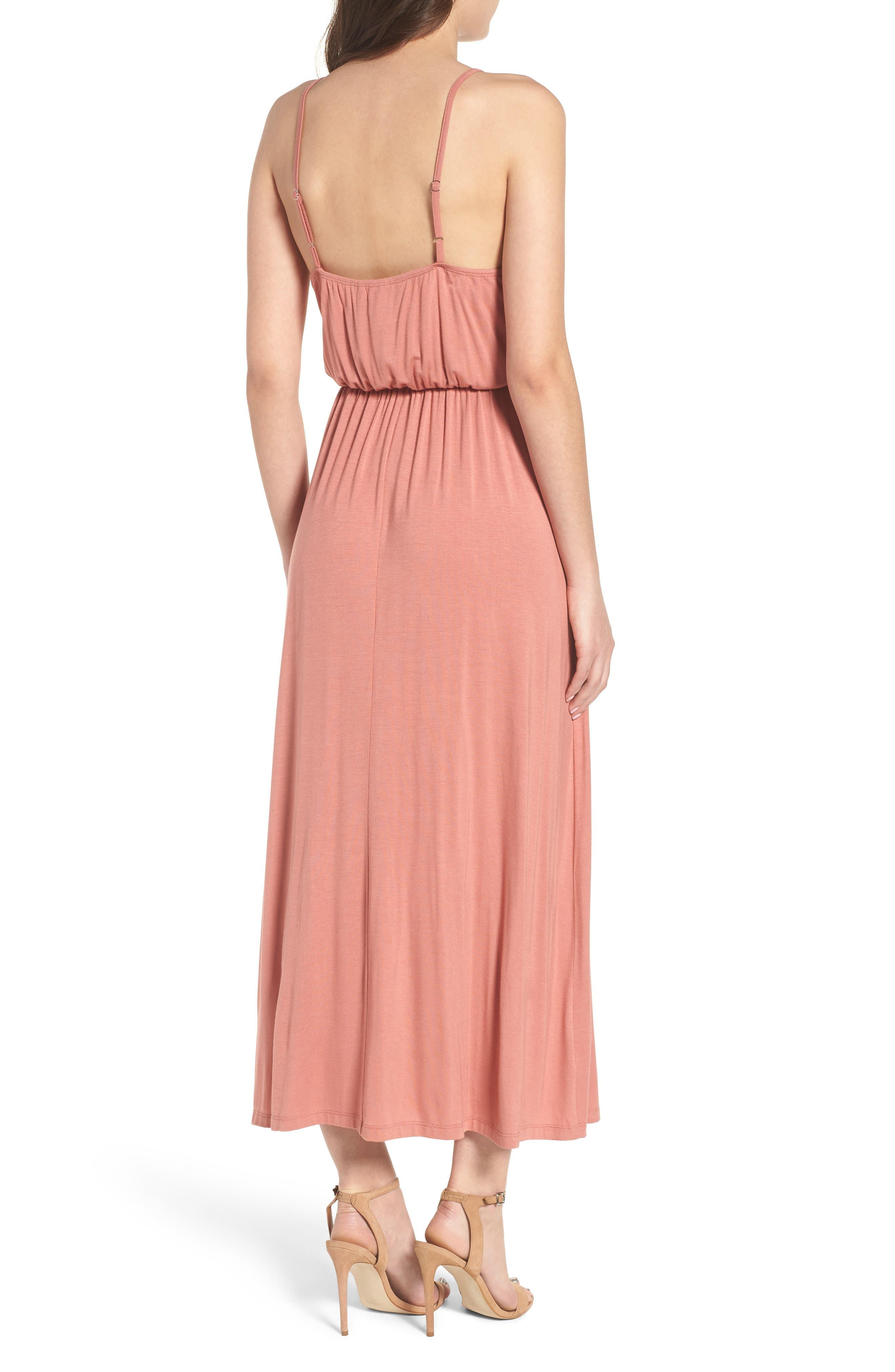 V-Neck Maxi Dress,                             Alternate thumbnail 5, color,