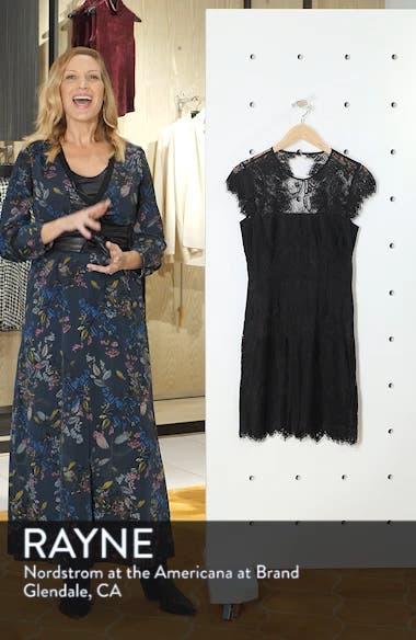 Jayce Lace Sheath Cocktail Dress, sales video thumbnail